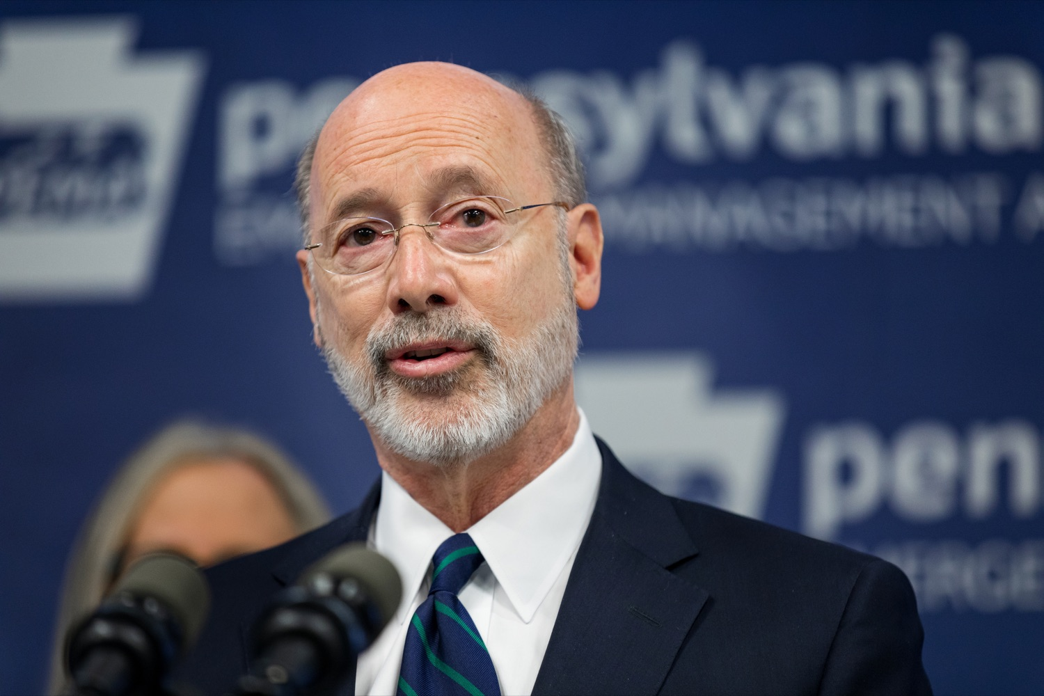 "<a href=""https://filesource.wostreaming.net/commonwealthofpa/photo/17857_GOV_DOH_Coronavirus_NK_004.JPG"" target=""_blank"">⇣ Download Photo<br></a>Gov. Tom Wolf speaks during a press conference, which confirmed the first two presumptive positive cases of 2019 Novel Coronavirus (COVID-19) in Pennsylvania and reminded residents that the commonwealth is prepared to respond to community spread of this virus, inside PEMA headquarters on Wednesday, March 4, 2020."