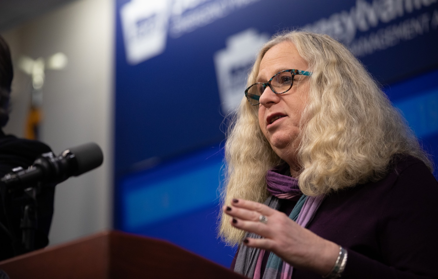 "<a href=""https://filesource.wostreaming.net/commonwealthofpa/photo/17886_gov_covid19_update_dz_0004.jpg"" target=""_blank"">⇣ Download Photo<br></a>Secretary of Health Dr. Rachel Levine speaking to reporters. Governor Tom Wolf, United States Representative for Pennsylvanias 6thCongressional District Chrissy Houlahan, Secretary of Health Dr. Rachel Levine, and Secretary of Education Pedro Rivera provided an update on the coronavirus known as COVID-19 and outline ongoing efforts to mitigate the virus in Pennsylvania.  March 14, 2020  Harrisburg, PA"