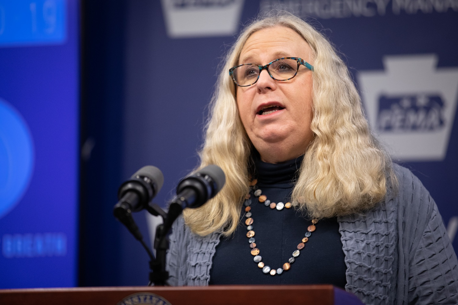 "<a href=""https://filesource.wostreaming.net/commonwealthofpa/photo/17894_doh_covid19_update_dz_0007.jpg"" target=""_blank"">⇣ Download Photo<br></a>Secretary of Health Dr. Rachel Levine speaking at the virtual press conference.  The Pennsylvania Department of Health today confirmed as of 12:00 a.m., March 19, that there are 52 additional positive cases of COVID-19 reported, bringing the statewide total to 185. The state also reported one death, an adult from Northampton County. All people are either in isolation at home or being treated at the hospital. Harrisburg, PA- March 19, 2020"