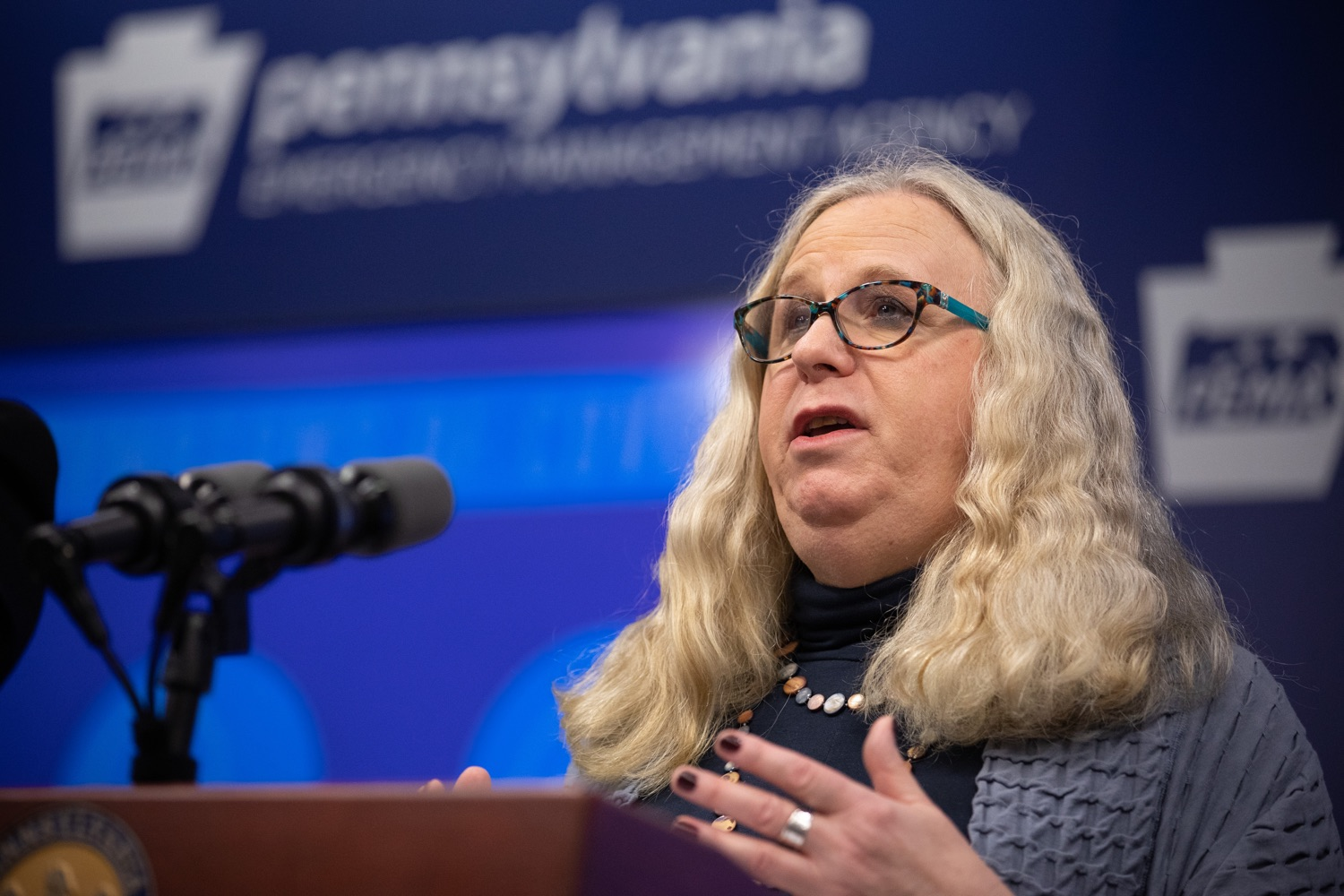 "<a href=""https://filesource.wostreaming.net/commonwealthofpa/photo/17894_doh_covid19_update_dz_0008.jpg"" target=""_blank"">⇣ Download Photo<br></a>Secretary of Health Dr. Rachel Levine speaking at the virtual press conference.  The Pennsylvania Department of Health today confirmed as of 12:00 a.m., March 19, that there are 52 additional positive cases of COVID-19 reported, bringing the statewide total to 185. The state also reported one death, an adult from Northampton County. All people are either in isolation at home or being treated at the hospital. Harrisburg, PA- March 19, 2020"