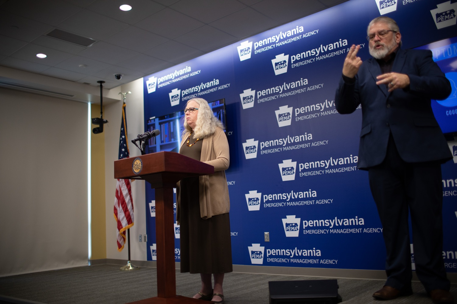 "<a href=""https://filesource.wostreaming.net/commonwealthofpa/photo/17897_gov_doh_update_dz_0007.JPG"" target=""_blank"">⇣ Download Photo<br></a>Secretary of Health Dr. Rachel Levine speaking at the virtual press conference. The Pennsylvania Department of Health today confirmed as of 12:00 a.m., March 20, that there are 83 additional positive cases of COVID-19 reported, bringing the statewide total to 268. County-specific information and a statewide map are available here. All people are either in isolation at home or being treated at the hospital.  Harrisburg, PA- March 20, 2020"