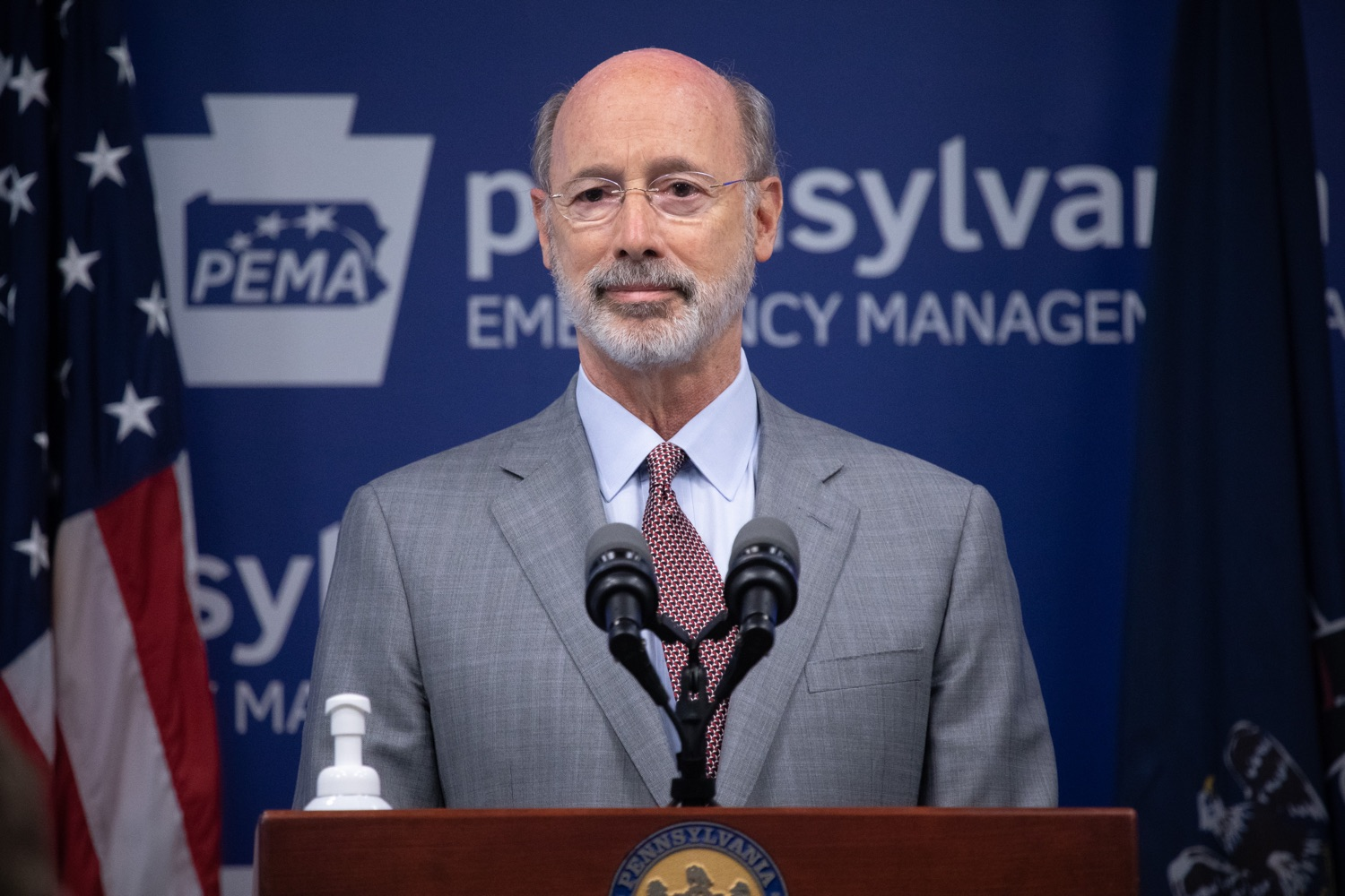 """<a href=""""https://filesource.wostreaming.net/commonwealthofpa/photo/18074_gov_doh_covid_update_dz_0002.JPG"""" target=""""_blank"""">⇣Download Photo<br></a>Pennsylvania Governor Tom Wolf answering questions from the press.  Governor Tom Wolf today announced a $225 million statewide grant program to support small businesses that were impacted by the COVID-19 public health crisis and subsequent business closure order.   Harrisburg, PA   June 8, 2020"""
