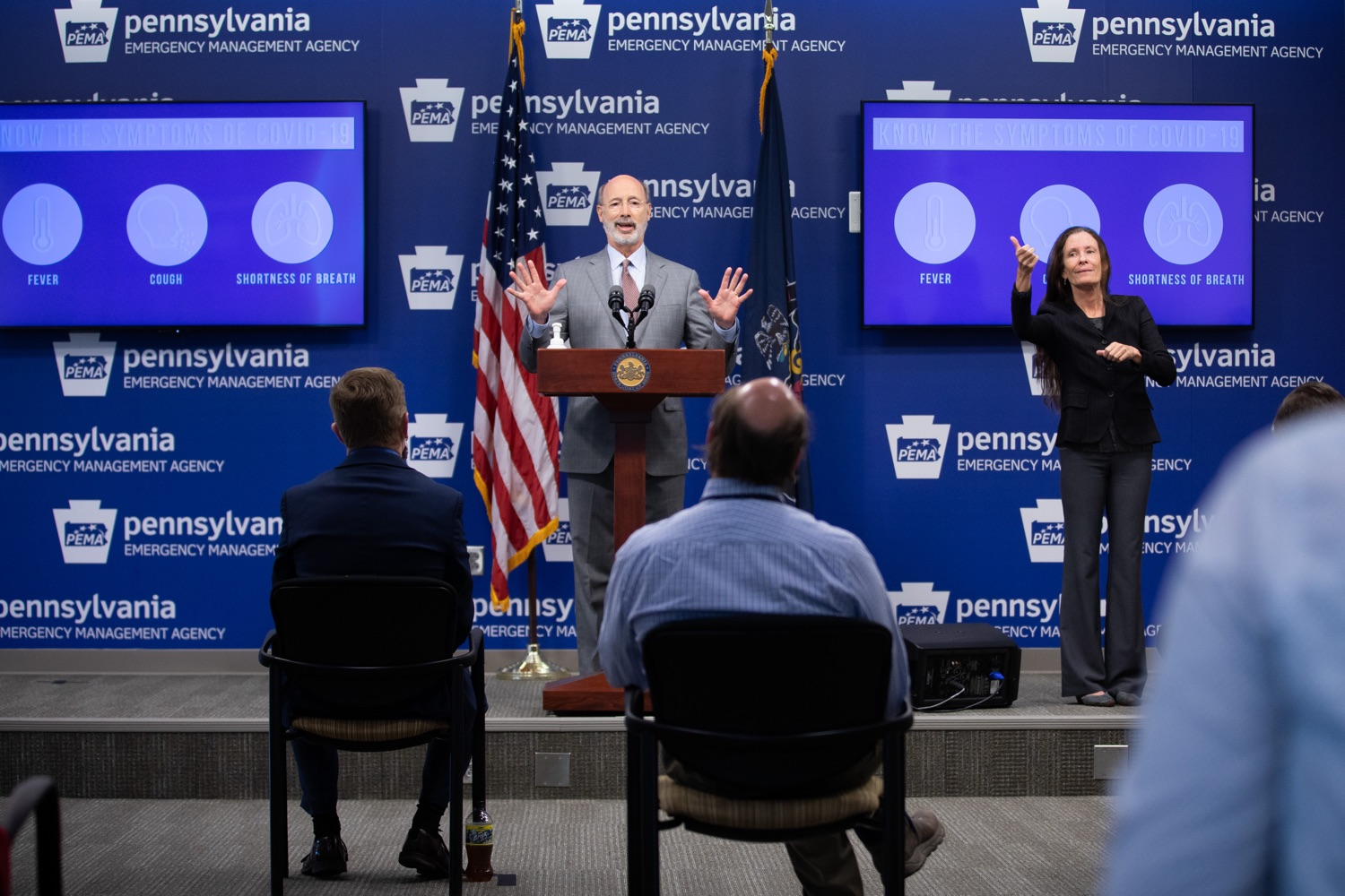 """<a href=""""https://filesource.wostreaming.net/commonwealthofpa/photo/18074_gov_doh_covid_update_dz_0003.JPG"""" target=""""_blank"""">⇣Download Photo<br></a>Pennsylvania Governor Tom Wolf answering questions from the press.  Governor Tom Wolf today announced a $225 million statewide grant program to support small businesses that were impacted by the COVID-19 public health crisis and subsequent business closure order.   Harrisburg, PA   June 8, 2020"""