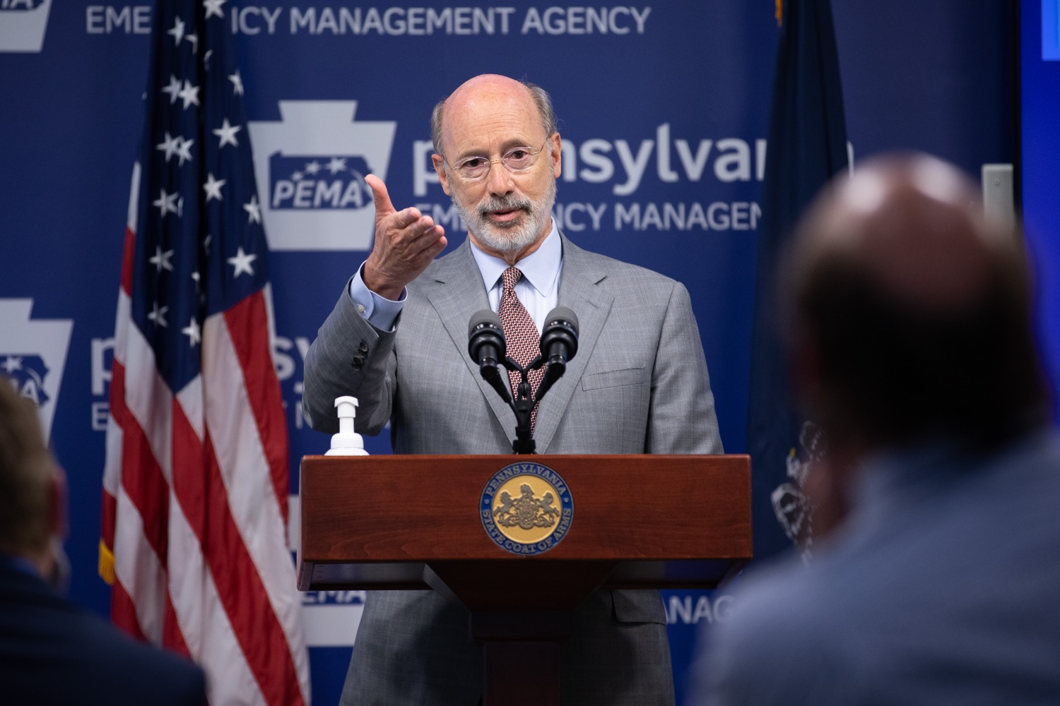 """<a href=""""https://filesource.wostreaming.net/commonwealthofpa/photo/18074_gov_doh_covid_update_dz_0005.JPG"""" target=""""_blank"""">⇣Download Photo<br></a>Pennsylvania Governor Tom Wolf answering questions from the press.  Governor Tom Wolf today announced a $225 million statewide grant program to support small businesses that were impacted by the COVID-19 public health crisis and subsequent business closure order.   Harrisburg, PA   June 8, 2020"""