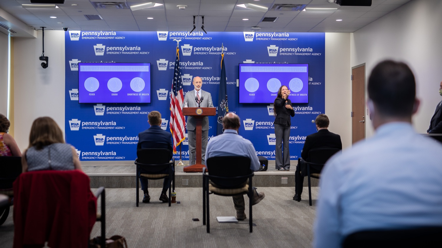 """<a href=""""https://filesource.wostreaming.net/commonwealthofpa/photo/18074_gov_doh_covid_update_dz_0006.JPG"""" target=""""_blank"""">⇣Download Photo<br></a>Pennsylvania Governor Tom Wolf answering questions from the press.  Governor Tom Wolf today announced a $225 million statewide grant program to support small businesses that were impacted by the COVID-19 public health crisis and subsequent business closure order.   Harrisburg, PA   June 8, 2020"""