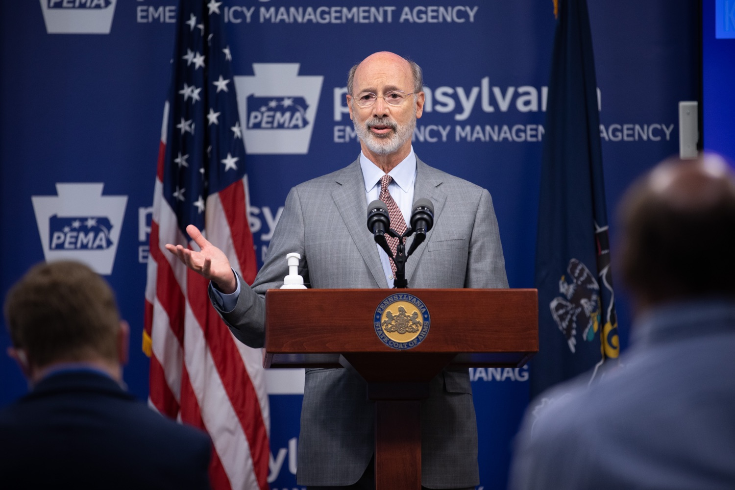 """<a href=""""https://filesource.wostreaming.net/commonwealthofpa/photo/18074_gov_doh_covid_update_dz_0010.JPG"""" target=""""_blank"""">⇣Download Photo<br></a>Pennsylvania Governor Tom Wolf answering questions from the press.  Governor Tom Wolf today announced a $225 million statewide grant program to support small businesses that were impacted by the COVID-19 public health crisis and subsequent business closure order.   Harrisburg, PA   June 8, 2020"""