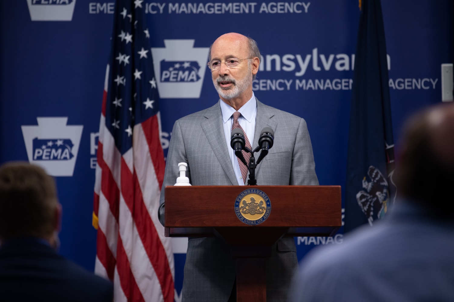 """<a href=""""https://filesource.wostreaming.net/commonwealthofpa/photo/18074_gov_doh_covid_update_dz_0012.JPG"""" target=""""_blank"""">⇣Download Photo<br></a>Pennsylvania Governor Tom Wolf answering questions from the press.  Governor Tom Wolf today announced a $225 million statewide grant program to support small businesses that were impacted by the COVID-19 public health crisis and subsequent business closure order.   Harrisburg, PA   June 8, 2020"""