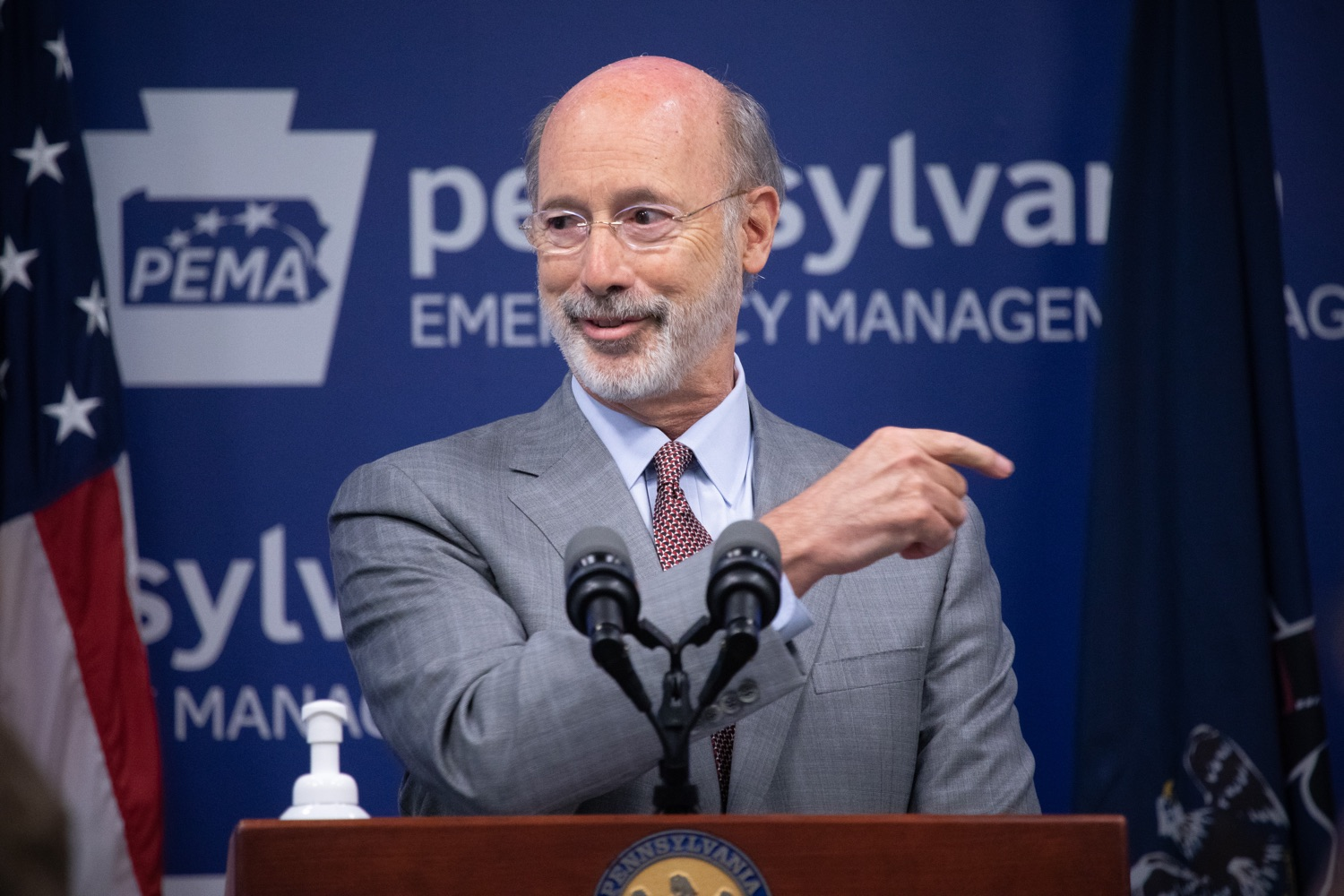 """<a href=""""https://filesource.wostreaming.net/commonwealthofpa/photo/18074_gov_doh_covid_update_dz_0013.JPG"""" target=""""_blank"""">⇣Download Photo<br></a>Pennsylvania Governor Tom Wolf answering questions from the press.  Governor Tom Wolf today announced a $225 million statewide grant program to support small businesses that were impacted by the COVID-19 public health crisis and subsequent business closure order.   Harrisburg, PA   June 8, 2020"""