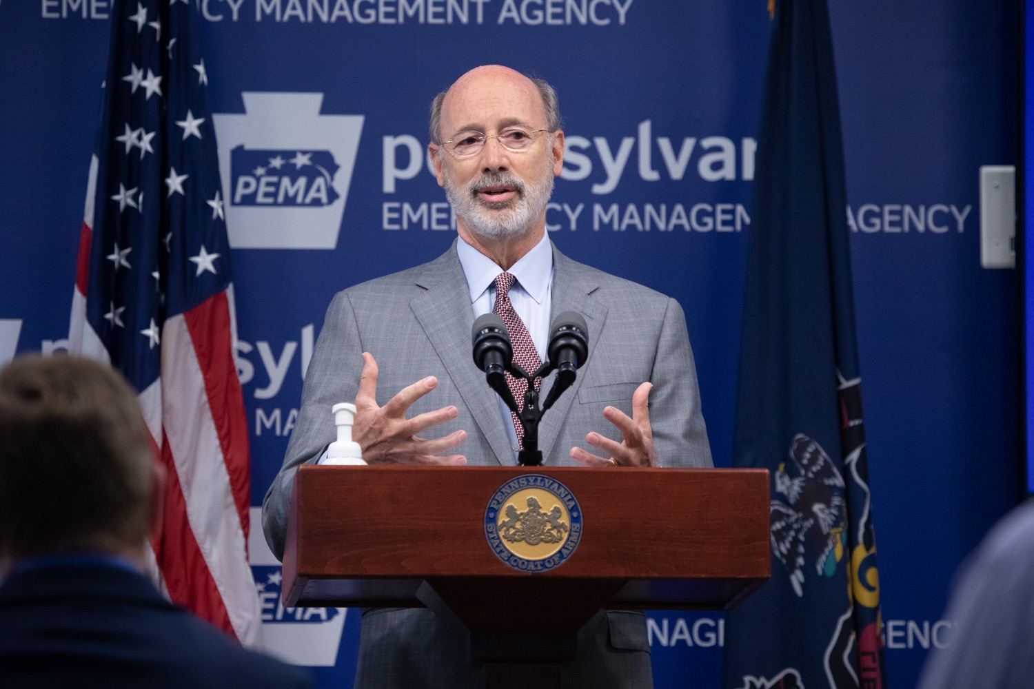 """<a href=""""https://filesource.wostreaming.net/commonwealthofpa/photo/18074_gov_doh_covid_update_dz_0014.JPG"""" target=""""_blank"""">⇣Download Photo<br></a>Pennsylvania Governor Tom Wolf answering questions from the press.  Governor Tom Wolf today announced a $225 million statewide grant program to support small businesses that were impacted by the COVID-19 public health crisis and subsequent business closure order.   Harrisburg, PA   June 8, 2020"""