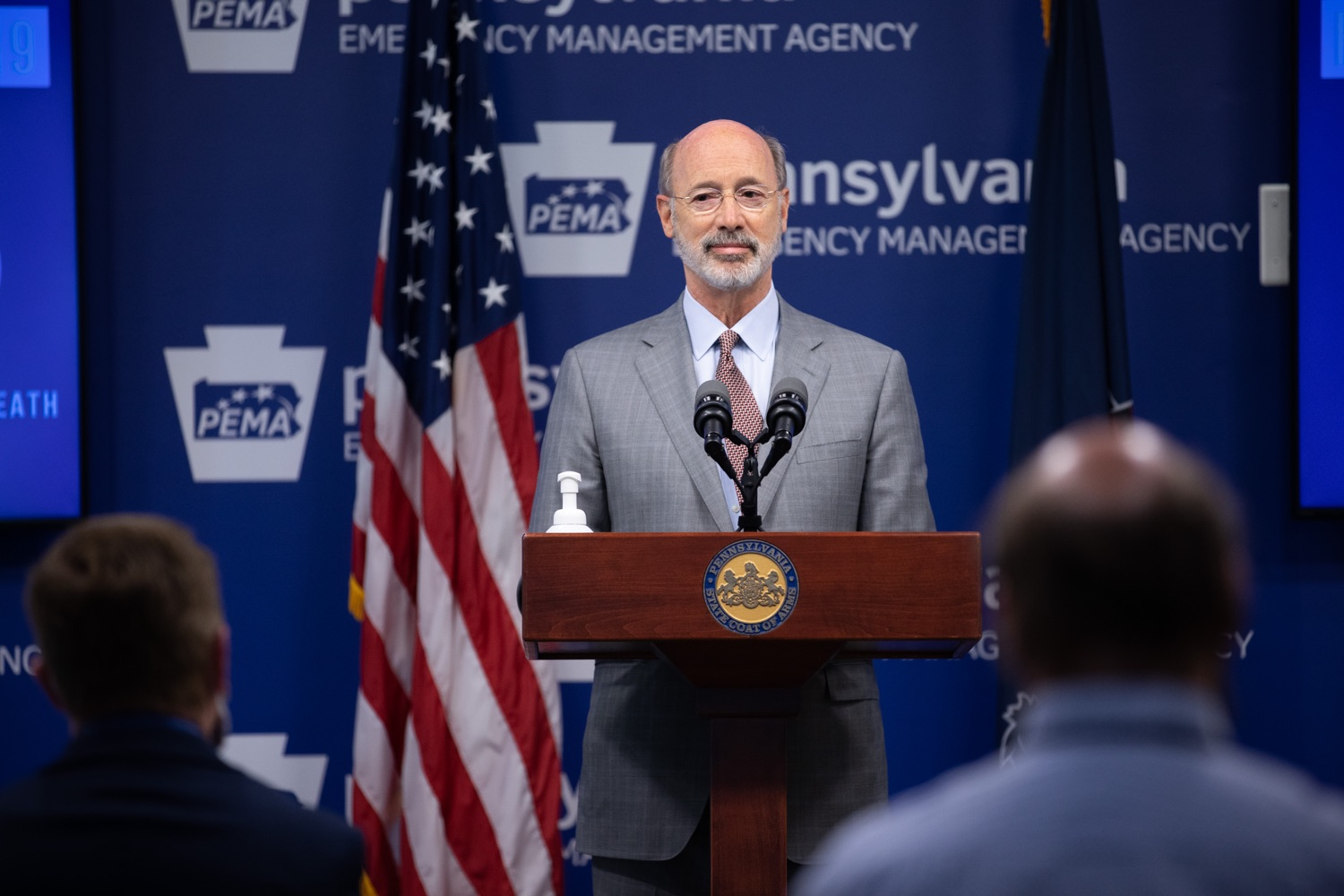 """<a href=""""https://filesource.wostreaming.net/commonwealthofpa/photo/18074_gov_doh_covid_update_dz_0015.JPG"""" target=""""_blank"""">⇣Download Photo<br></a>Pennsylvania Governor Tom Wolf answering questions from the press.  Governor Tom Wolf today announced a $225 million statewide grant program to support small businesses that were impacted by the COVID-19 public health crisis and subsequent business closure order.   Harrisburg, PA   June 8, 2020"""