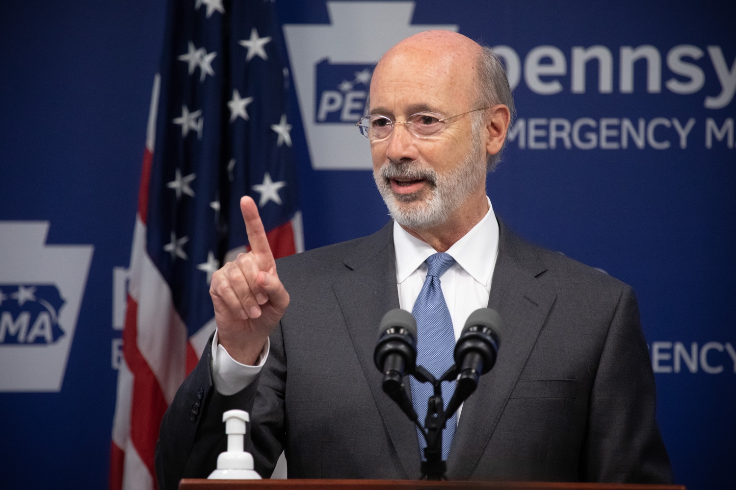 "<a href=""https://filesource.wostreaming.net/commonwealthofpa/photo/18088_gov_covid_update_dz_0004.jpg"" target=""_blank"">⇣ Download Photo<br></a>Governor Tom Wolf answers questions from the press. Governor Tom Wolf announced that people with intellectual disabilities and autism and the providers of support services for these vulnerable Pennsylvanians will receive $260 million in CARES Act funding to help continue to provide services during the COVID-19 pandemic.  Gov. Wolf was joined by Department of Human Services Secretary Teresa Miller, who outlined to details of funding allocations.  JUNE 15, 2020 - HARRISBURG, PA"