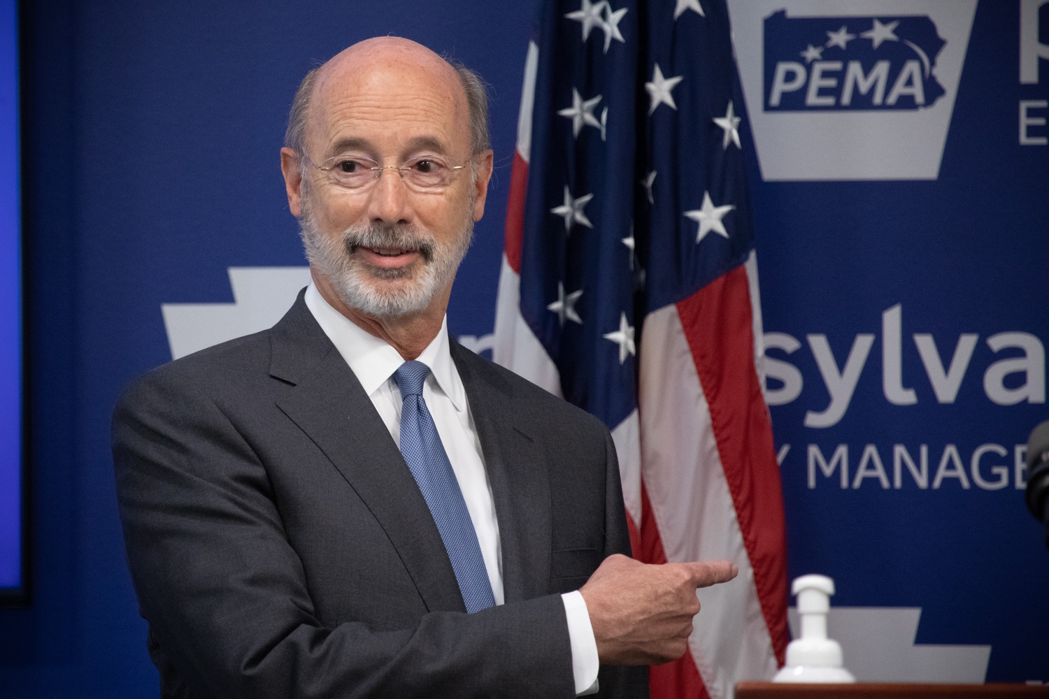 "<a href=""https://filesource.wostreaming.net/commonwealthofpa/photo/18088_gov_covid_update_dz_0010.jpg"" target=""_blank"">⇣ Download Photo<br></a>Governor Tom Wolf answers questions from the press. Governor Tom Wolf announced that people with intellectual disabilities and autism and the providers of support services for these vulnerable Pennsylvanians will receive $260 million in CARES Act funding to help continue to provide services during the COVID-19 pandemic.  Gov. Wolf was joined by Department of Human Services Secretary Teresa Miller, who outlined to details of funding allocations.  JUNE 15, 2020 - HARRISBURG, PA"