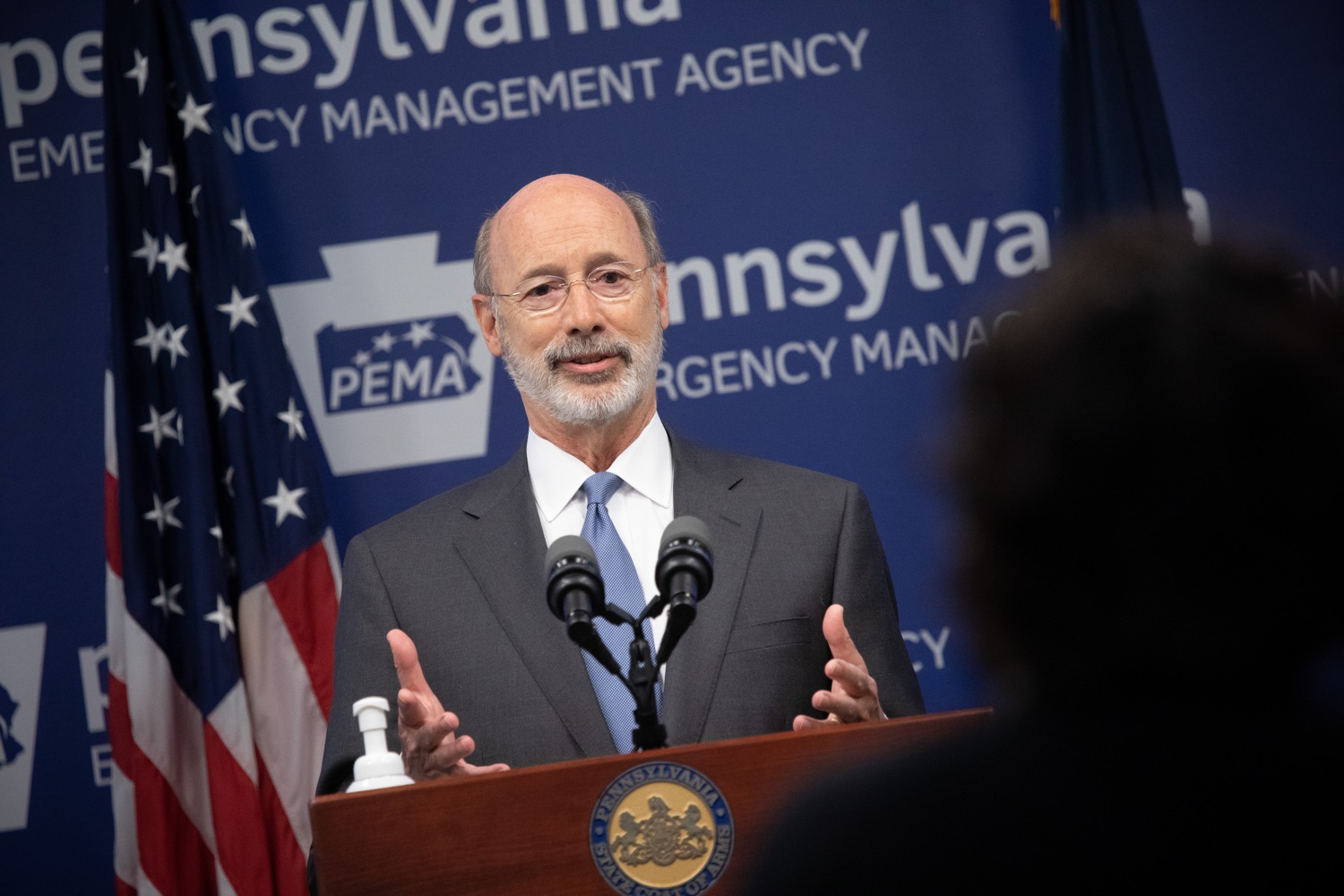 "<a href=""https://filesource.wostreaming.net/commonwealthofpa/photo/18088_gov_covid_update_dz_0011.jpg"" target=""_blank"">⇣ Download Photo<br></a>Governor Tom Wolf answers questions from the press. Governor Tom Wolf announced that people with intellectual disabilities and autism and the providers of support services for these vulnerable Pennsylvanians will receive $260 million in CARES Act funding to help continue to provide services during the COVID-19 pandemic.  Gov. Wolf was joined by Department of Human Services Secretary Teresa Miller, who outlined to details of funding allocations.  JUNE 15, 2020 - HARRISBURG, PA"