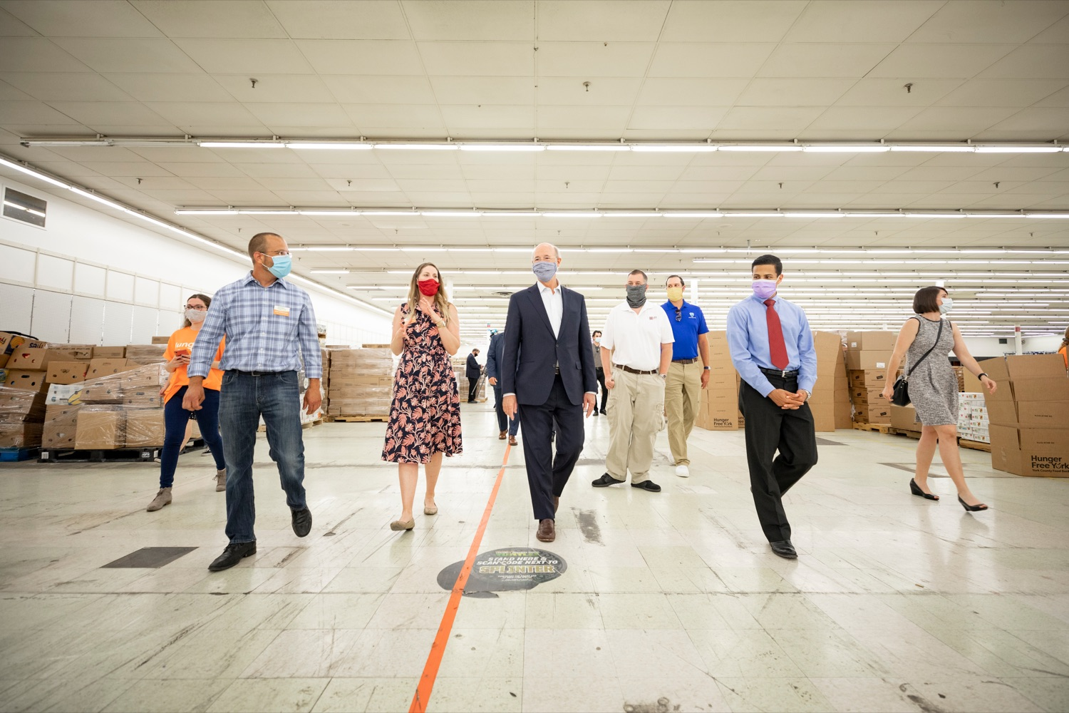 "<a href=""https://filesource.wostreaming.net/commonwealthofpa/photo/18095_GOV_Food_Bank_Volunteers_NK_002.jpg"" target=""_blank"">⇣ Download Photo<br></a>Governor Tom Wolf gets a tour of the York County Food Banks East York Emergency Food Hub on Tuesday, June 23, 2020."