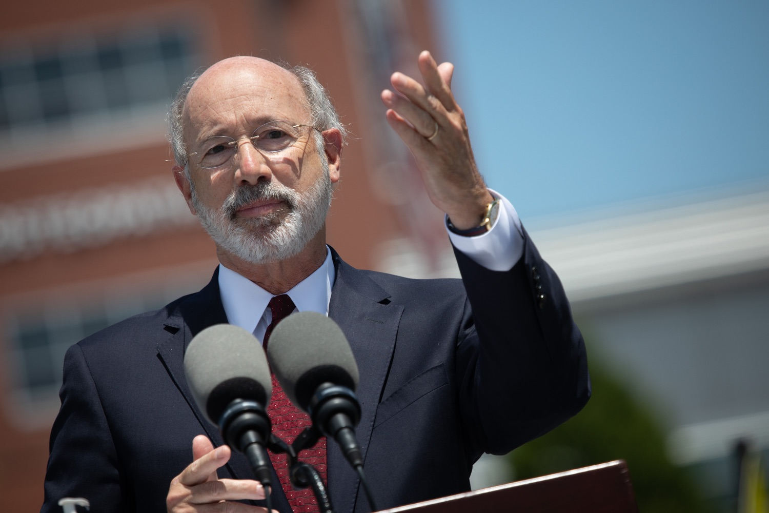 "<a href=""https://filesource.wostreaming.net/commonwealthofpa/photo/18101_gov_healthcare_dz_01.jpg"" target=""_blank"">⇣ Download Photo<br></a>Pennsylvania Governor Tom Wolf speaking at UPMC Pinnacle Community Osteopathic.As health care professionals work the front lines of the COVID-19 pandemic and the commonwealth continues to emphasize the importance of mask-wearing and social distancing to protect all, Governor Tom Wolf today visited UPMC Pinnacle Community Osteopathic Hospital in Harrisburg to thank staff and stress why mask-wearing is a necessary requirement to fight the spread of COVID-19.    Harrisburg, PA  June 29, 2020"