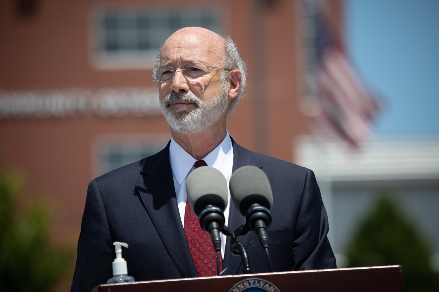 "<a href=""https://filesource.wostreaming.net/commonwealthofpa/photo/18101_gov_healthcare_dz_02.jpg"" target=""_blank"">⇣ Download Photo<br></a>Pennsylvania Governor Tom Wolf speaking at UPMC Pinnacle Community Osteopathic.As health care professionals work the front lines of the COVID-19 pandemic and the commonwealth continues to emphasize the importance of mask-wearing and social distancing to protect all, Governor Tom Wolf today visited UPMC Pinnacle Community Osteopathic Hospital in Harrisburg to thank staff and stress why mask-wearing is a necessary requirement to fight the spread of COVID-19.    Harrisburg, PA  June 29, 2020"
