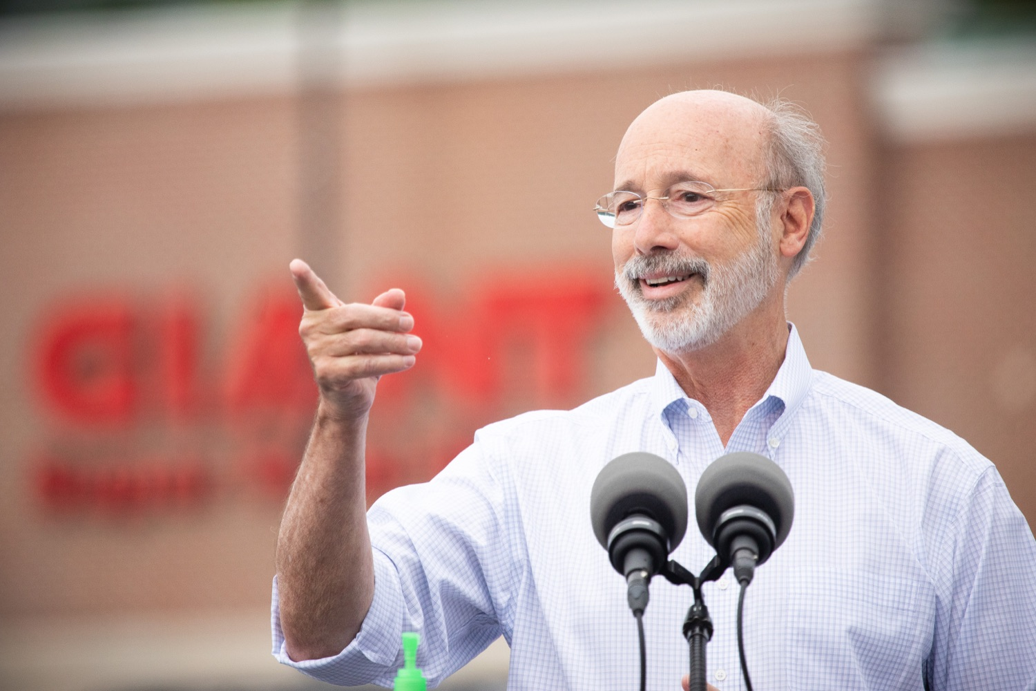 """<a href=""""https://filesource.wostreaming.net/commonwealthofpa/photo/18166_gov_cares_act_dz_01.jpg"""" target=""""_blank"""">⇣Download Photo<br></a>Pennsylvania Governor Tom Wolf speaking to reporters at the announcement. Today, Governor Tom Wolf announced the availability of $50 million in grant funding to help employers provide hazard pay to employees in life-sustaining occupations during the COVID-19 pandemic. Hazard pay is intended to keep front-line employees working in vital industry sectors across Pennsylvania.  Harrisburg, PA  July 16, 2020"""