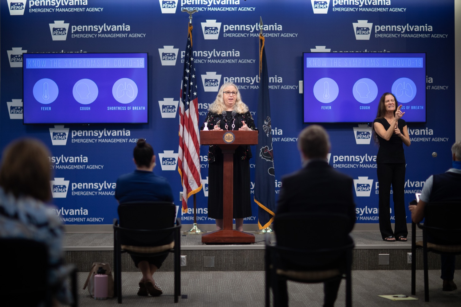"<a href=""https://filesource.wostreaming.net/commonwealthofpa/photo/18176_doh_covid19_update_dz_02.JPG"" target=""_blank"">⇣ Download Photo<br></a>Secretary of Health Dr. Rachel Levine speaking to the press.  The Pennsylvania Department of Health today confirmed as of 12:00 a.m., July 23, that there are 962 additional positive cases of COVID-19, bringing the statewide total to 104,358. All 67 counties in Pennsylvania have cases of COVID-19. Allegheny is reporting an increase of 147 cases, and Philadelphia is reporting an increase of 311 cases. Since there was no data reported from Philadelphia yesterday, the number of new cases is a culmination of cases from the past two days. Harrisburg, PA - July 23, 2020"