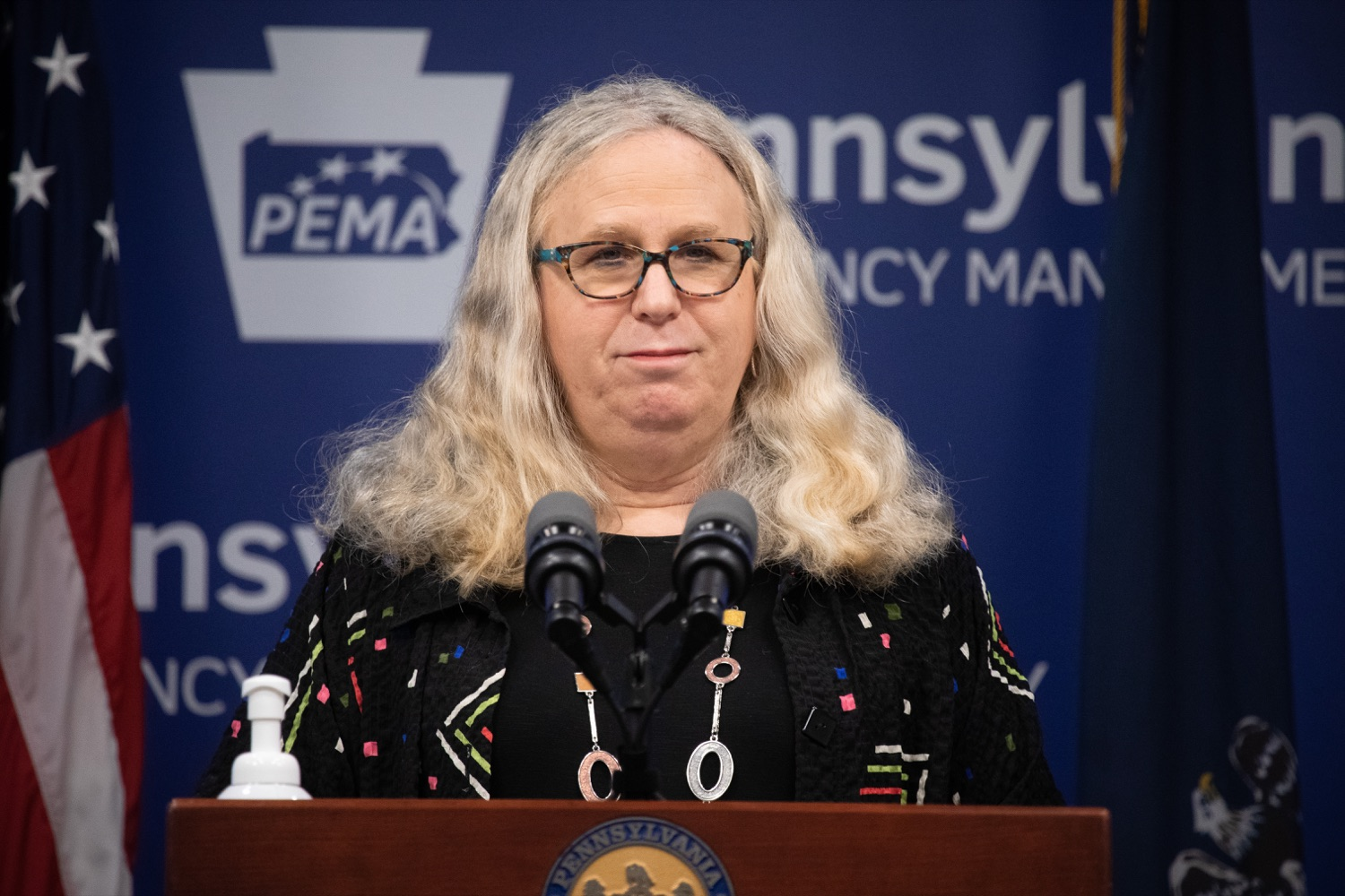 "<a href=""https://filesource.wostreaming.net/commonwealthofpa/photo/18176_doh_covid19_update_dz_13.jpg"" target=""_blank"">⇣ Download Photo<br></a>Secretary of Health Dr. Rachel Levine speaking to the press.  The Pennsylvania Department of Health today confirmed as of 12:00 a.m., July 23, that there are 962 additional positive cases of COVID-19, bringing the statewide total to 104,358. All 67 counties in Pennsylvania have cases of COVID-19. Allegheny is reporting an increase of 147 cases, and Philadelphia is reporting an increase of 311 cases. Since there was no data reported from Philadelphia yesterday, the number of new cases is a culmination of cases from the past two days. Harrisburg, PA - July 23, 2020"