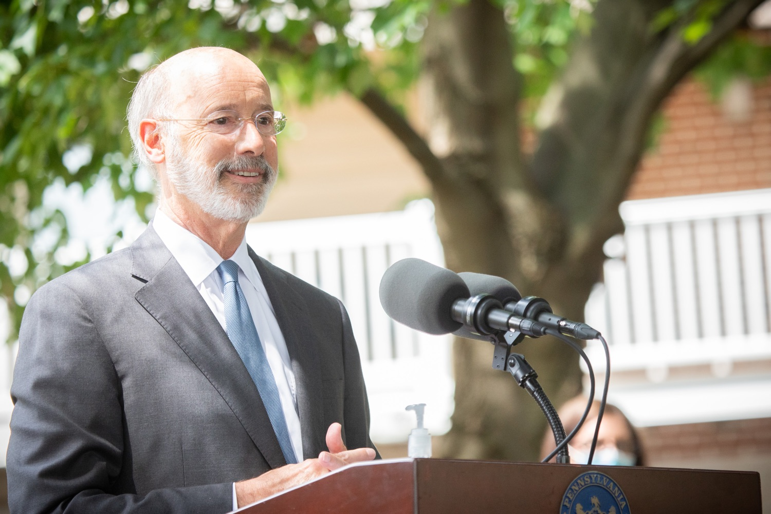 "<a href=""https://filesource.wostreaming.net/commonwealthofpa/photo/18178_GOV_Lancaster_Health_dz__15.jpg"" target=""_blank"">⇣ Download Photo<br></a>Pennsylvania Governor Tom Wolf speaking at the event.  Governor Tom Wolf today visited Lancaster Health Center, a federally qualified health center, to thank staff for their work to ensure the communitys most vulnerable receive care during COVID-19 and year-round.  Harrisburg, PA  July 24, 2020"