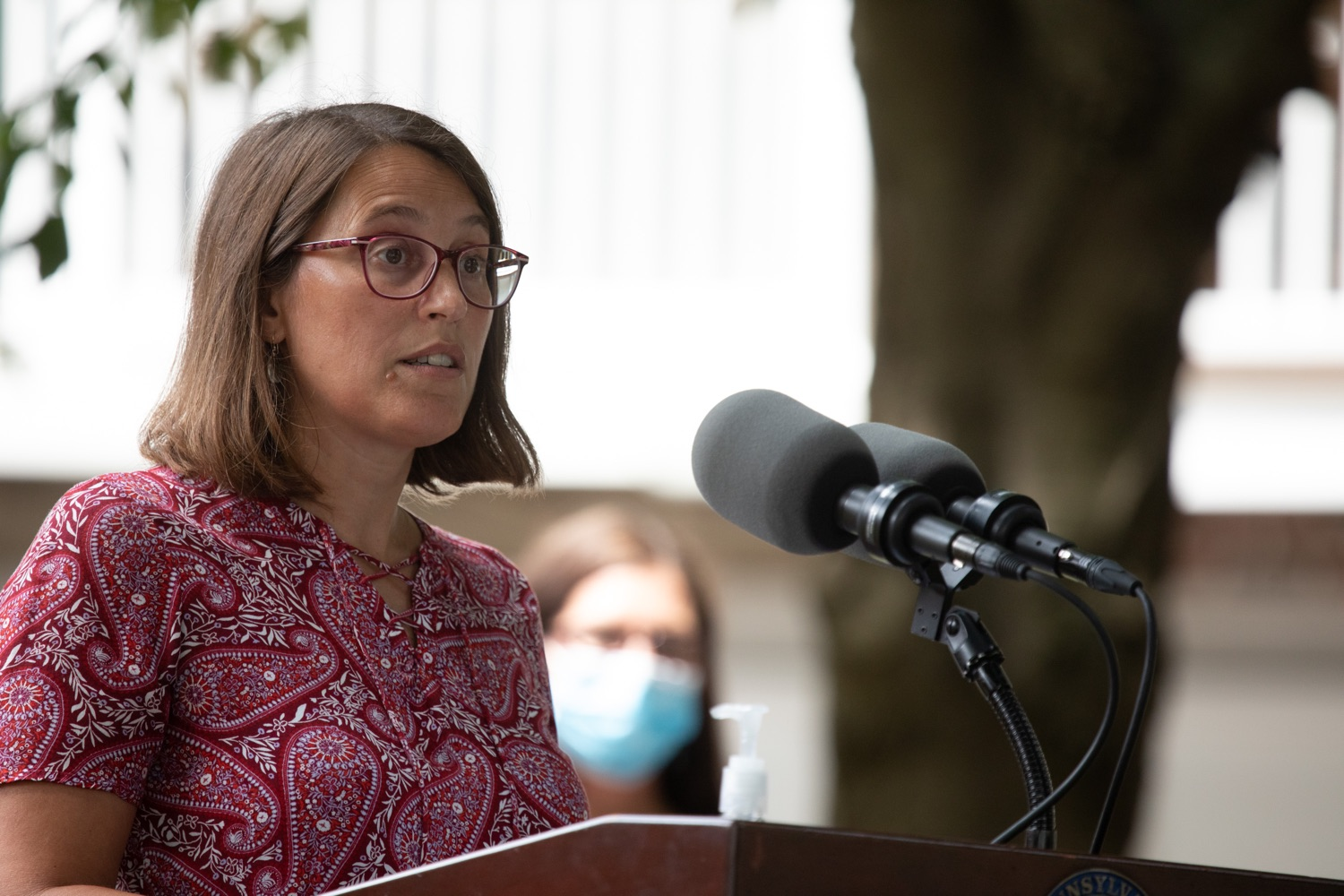 "<a href=""https://filesource.wostreaming.net/commonwealthofpa/photo/18178_GOV_Lancaster_Health_dz__18.jpg"" target=""_blank"">⇣ Download Photo<br></a>Dr. Anne-Marie Derrico, Chief Medical Officer, Lancaster Health Center speaking at the event.Governor Tom Wolf today visited Lancaster Health Center, a federally qualified health center, to thank staff for their work to ensure the communitys most vulnerable receive care during COVID-19 and year-round.  Harrisburg, PA  July 24, 2020"