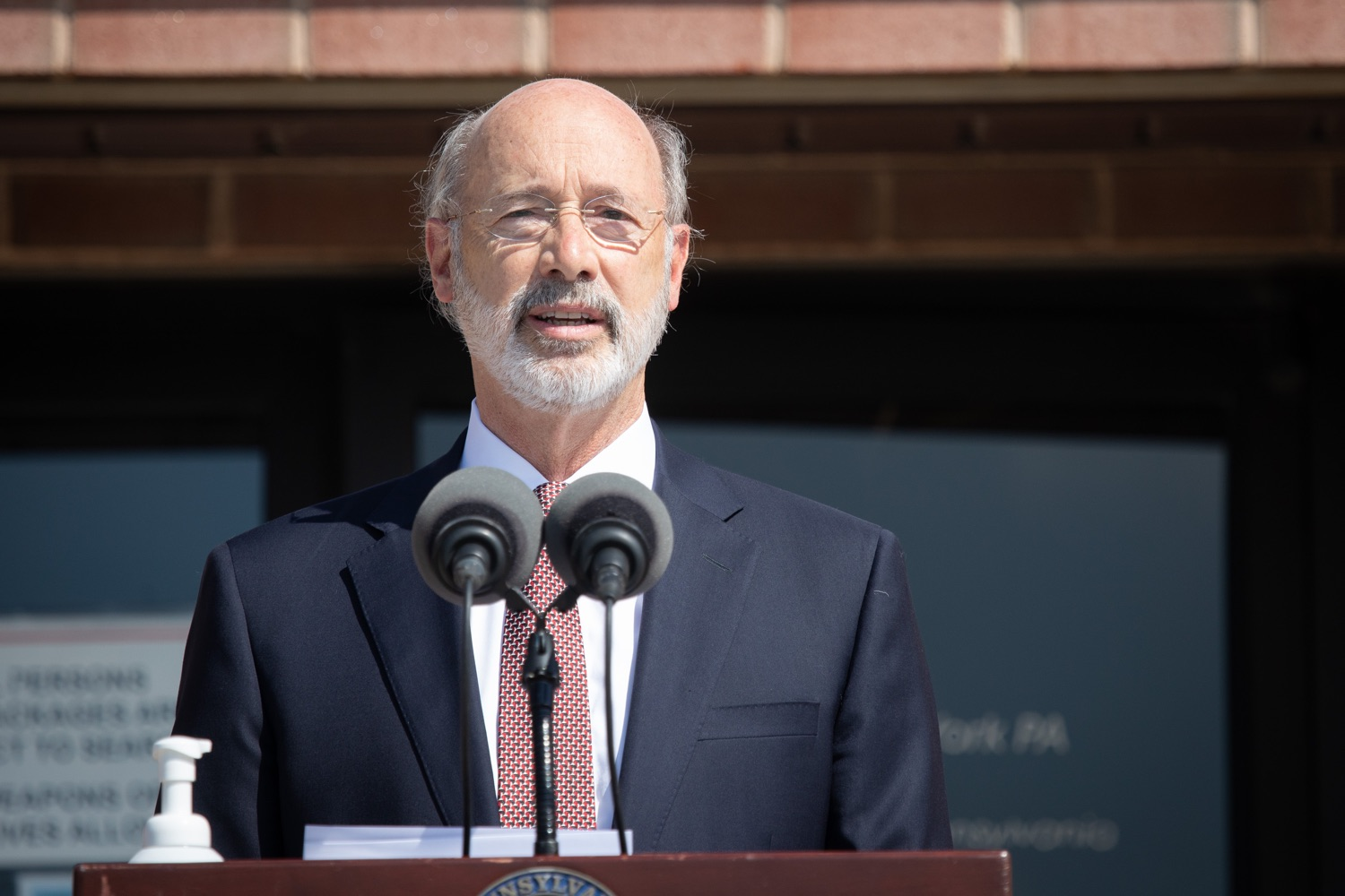 "<a href=""https://filesource.wostreaming.net/commonwealthofpa/photo/18184_gov_CareerLink01.JPG"" target=""_blank"">⇣ Download Photo<br></a>Pennsylvania governor Tom Wolf speaking at the event.  Governor Tom Wolf today visited the PA CareerLink York County to highlight the virtual services available to people looking for work and employers seeking qualified candidates. The governor also urged Republicans in Congress to extend the Federal Pandemic Unemployment Compensation program that provides an extra $600 a week to people receiving unemployment compensation. The federal program ended July 25.  Harrisburg, PA  July 28, 2020"