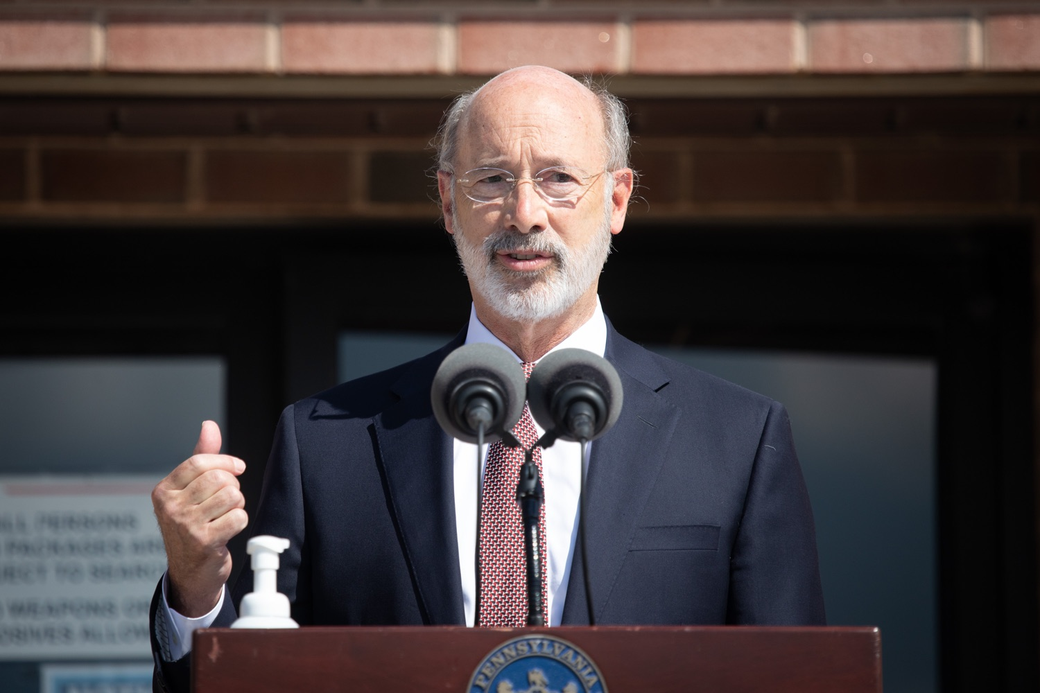 """<a href=""""https://filesource.wostreaming.net/commonwealthofpa/photo/18184_gov_CareerLink15.JPG"""" target=""""_blank"""">⇣Download Photo<br></a>Pennsylvania governor Tom Wolf speaking at the event.  Governor Tom Wolf today visited the PA CareerLink York County to highlight the virtual services available to people looking for work and employers seeking qualified candidates. The governor also urged Republicans in Congress to extend the Federal Pandemic Unemployment Compensation program that provides an extra $600 a week to people receiving unemployment compensation. The federal program ended July 25.  Harrisburg, PA  July 28, 2020"""