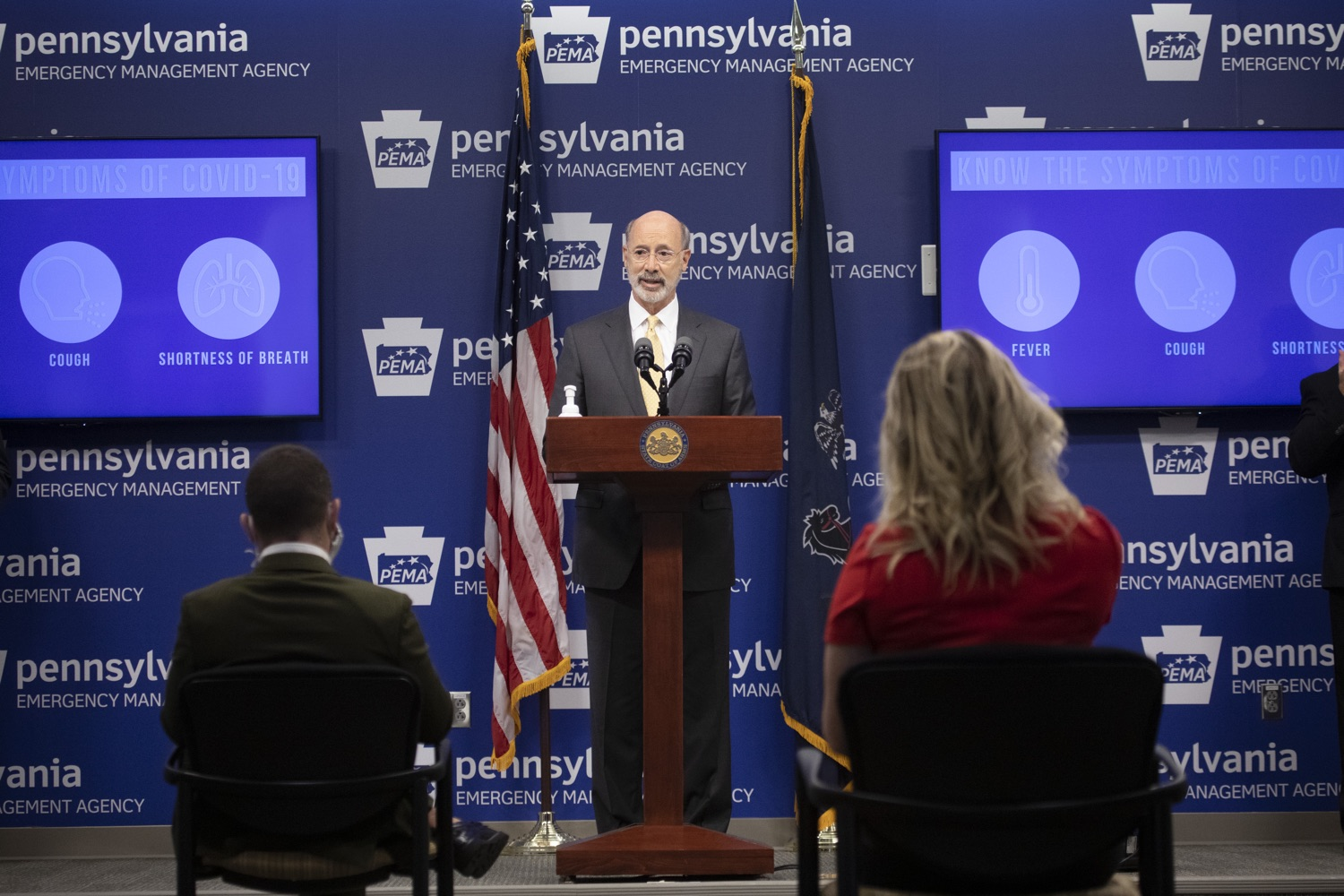 """<a href=""""https://filesource.wostreaming.net/commonwealthofpa/photo/18201_gov_orasure_dz_003.jpg"""" target=""""_blank"""">⇣Download Photo<br></a>Pennsylvania Governor Tom Wolf speaking to the press.  Today, Governor Tom Wolf announced that OraSure Technologies Inc., a developer and manufacturer of rapid diagnostic tests, collection and stabilization devices headquartered in Northampton County, will expand its manufacturing operations in the Lehigh Valley, creating 177 new, full-time jobs and retaining 233 jobs.  Harrisburg, PA  August 11, 2020"""