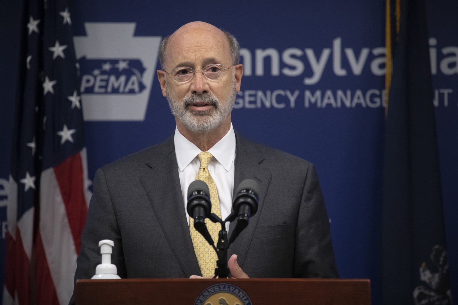 """<a href=""""https://filesource.wostreaming.net/commonwealthofpa/photo/18201_gov_orasure_dz_010.jpg"""" target=""""_blank"""">⇣Download Photo<br></a>Pennsylvania Governor Tom Wolf speaking to the press.  Today, Governor Tom Wolf announced that OraSure Technologies Inc., a developer and manufacturer of rapid diagnostic tests, collection and stabilization devices headquartered in Northampton County, will expand its manufacturing operations in the Lehigh Valley, creating 177 new, full-time jobs and retaining 233 jobs.  Harrisburg, PA  August 11, 2020"""