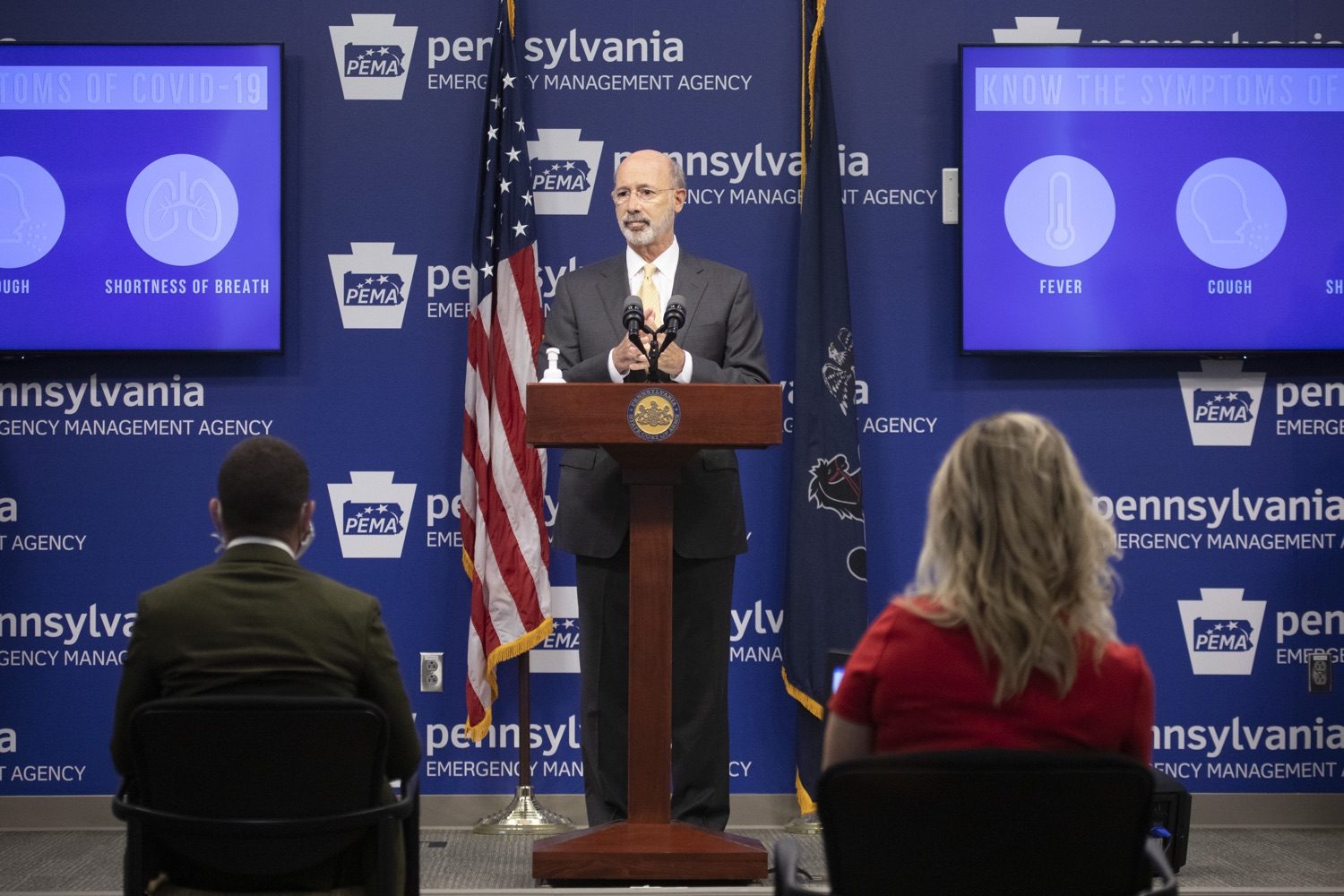 """<a href=""""https://filesource.wostreaming.net/commonwealthofpa/photo/18201_gov_orasure_dz_011.jpg"""" target=""""_blank"""">⇣Download Photo<br></a>Pennsylvania Governor Tom Wolf speaking to the press.  Today, Governor Tom Wolf announced that OraSure Technologies Inc., a developer and manufacturer of rapid diagnostic tests, collection and stabilization devices headquartered in Northampton County, will expand its manufacturing operations in the Lehigh Valley, creating 177 new, full-time jobs and retaining 233 jobs.  Harrisburg, PA  August 11, 2020"""