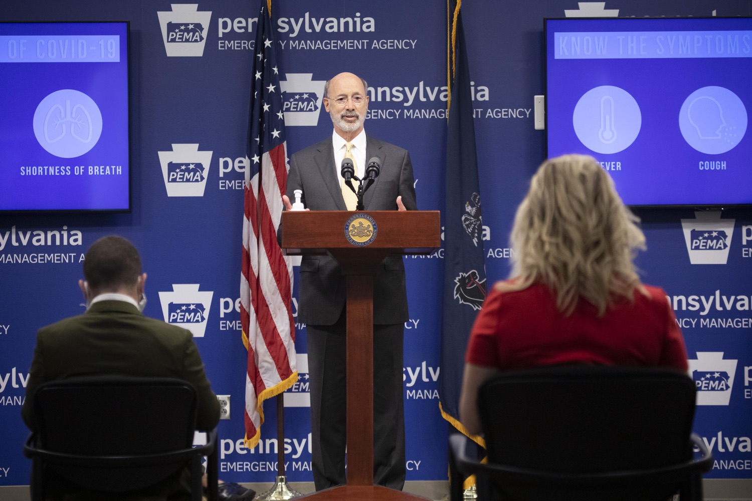 """<a href=""""https://filesource.wostreaming.net/commonwealthofpa/photo/18201_gov_orasure_dz_013.jpg"""" target=""""_blank"""">⇣Download Photo<br></a>Pennsylvania Governor Tom Wolf speaking to the press.  Today, Governor Tom Wolf announced that OraSure Technologies Inc., a developer and manufacturer of rapid diagnostic tests, collection and stabilization devices headquartered in Northampton County, will expand its manufacturing operations in the Lehigh Valley, creating 177 new, full-time jobs and retaining 233 jobs.  Harrisburg, PA  August 11, 2020"""