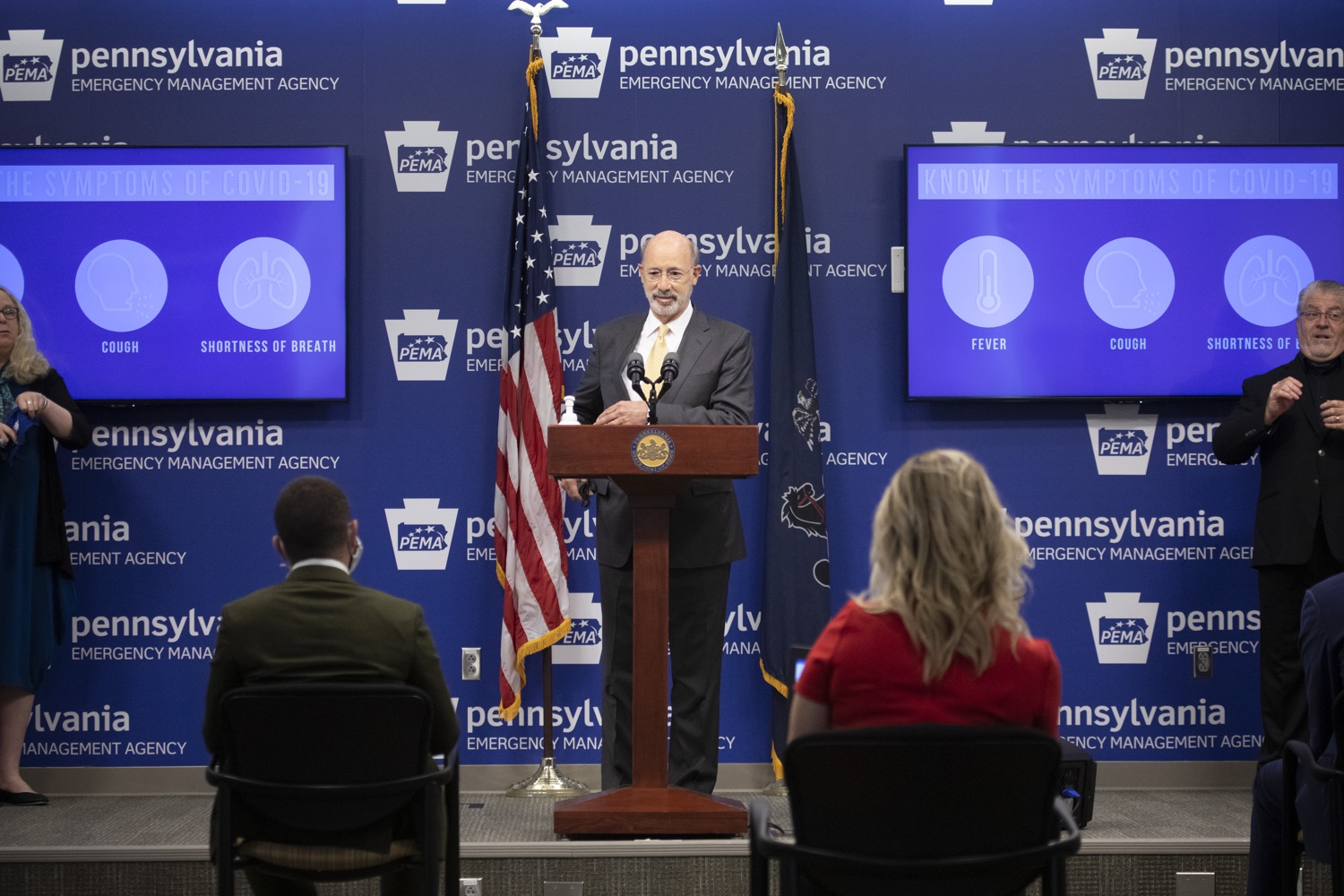 """<a href=""""https://filesource.wostreaming.net/commonwealthofpa/photo/18201_gov_orasure_dz_015.jpg"""" target=""""_blank"""">⇣Download Photo<br></a>Pennsylvania Governor Tom Wolf speaking to the press.  Today, Governor Tom Wolf announced that OraSure Technologies Inc., a developer and manufacturer of rapid diagnostic tests, collection and stabilization devices headquartered in Northampton County, will expand its manufacturing operations in the Lehigh Valley, creating 177 new, full-time jobs and retaining 233 jobs.  Harrisburg, PA  August 11, 2020"""