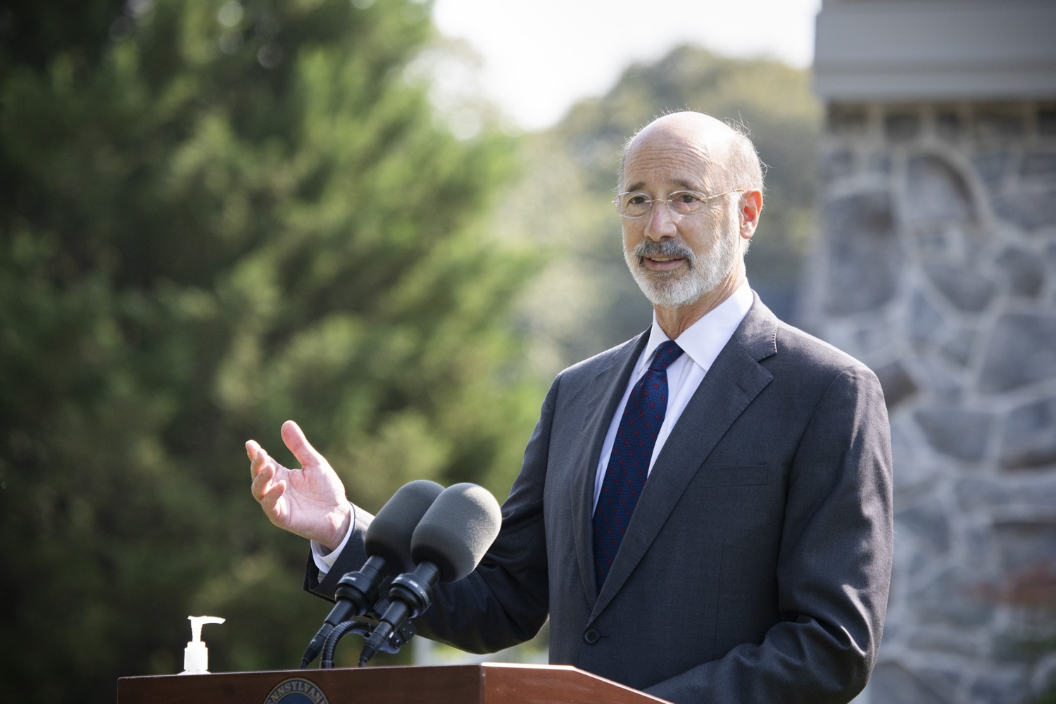 "<a href=""https://filesource.wostreaming.net/commonwealthofpa/photo/18248_gov_evictions_dz_025.jpg"" target=""_blank"">⇣ Download Photo<br></a>Pennsylvania Governor Tom Wolf speaking to the press. With rent and mortgage debt mounting for hundreds of thousands of Pennsylvanians, Governor Tom Wolf is calling on the General Assembly to fix a state relief program to prevent many families from becoming homeless and enact a moratorium on evictions and foreclosures until the end of the year. The governor was joined today by legislators and housing advocates at a press conference in Lancaster County. Harrisburg, PA  Sept. 8, 2020"