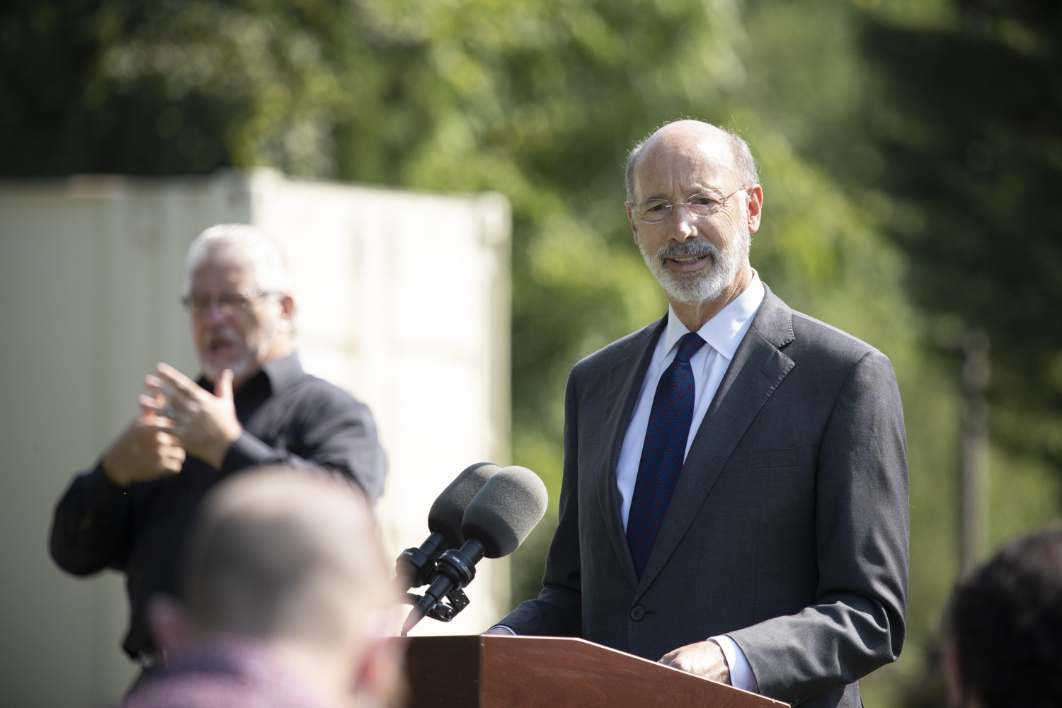 "<a href=""https://filesource.wostreaming.net/commonwealthofpa/photo/18248_gov_evictions_dz_029.jpg"" target=""_blank"">⇣ Download Photo<br></a>Pennsylvania Governor Tom Wolf speaking to the press. With rent and mortgage debt mounting for hundreds of thousands of Pennsylvanians, Governor Tom Wolf is calling on the General Assembly to fix a state relief program to prevent many families from becoming homeless and enact a moratorium on evictions and foreclosures until the end of the year. The governor was joined today by legislators and housing advocates at a press conference in Lancaster County. Harrisburg, PA  Sept. 8, 2020"