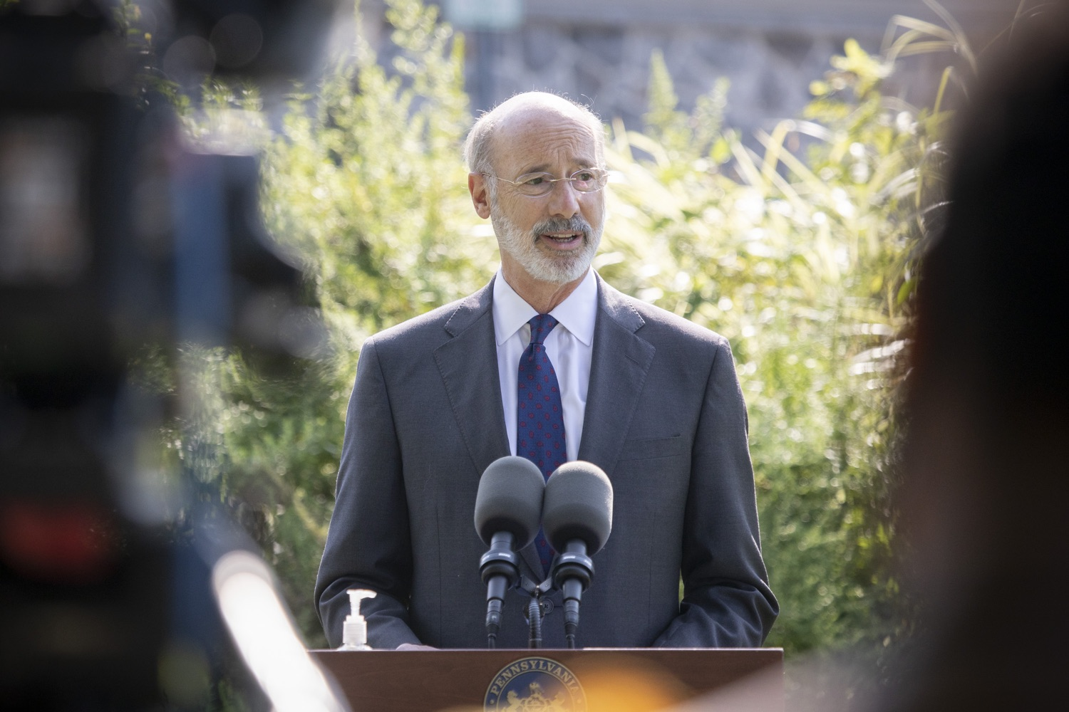 "<a href=""https://filesource.wostreaming.net/commonwealthofpa/photo/18248_gov_evictions_dz_035.jpg"" target=""_blank"">⇣ Download Photo<br></a>Pennsylvania Governor Tom Wolf speaking to the press. With rent and mortgage debt mounting for hundreds of thousands of Pennsylvanians, Governor Tom Wolf is calling on the General Assembly to fix a state relief program to prevent many families from becoming homeless and enact a moratorium on evictions and foreclosures until the end of the year. The governor was joined today by legislators and housing advocates at a press conference in Lancaster County. Harrisburg, PA  Sept. 8, 2020"