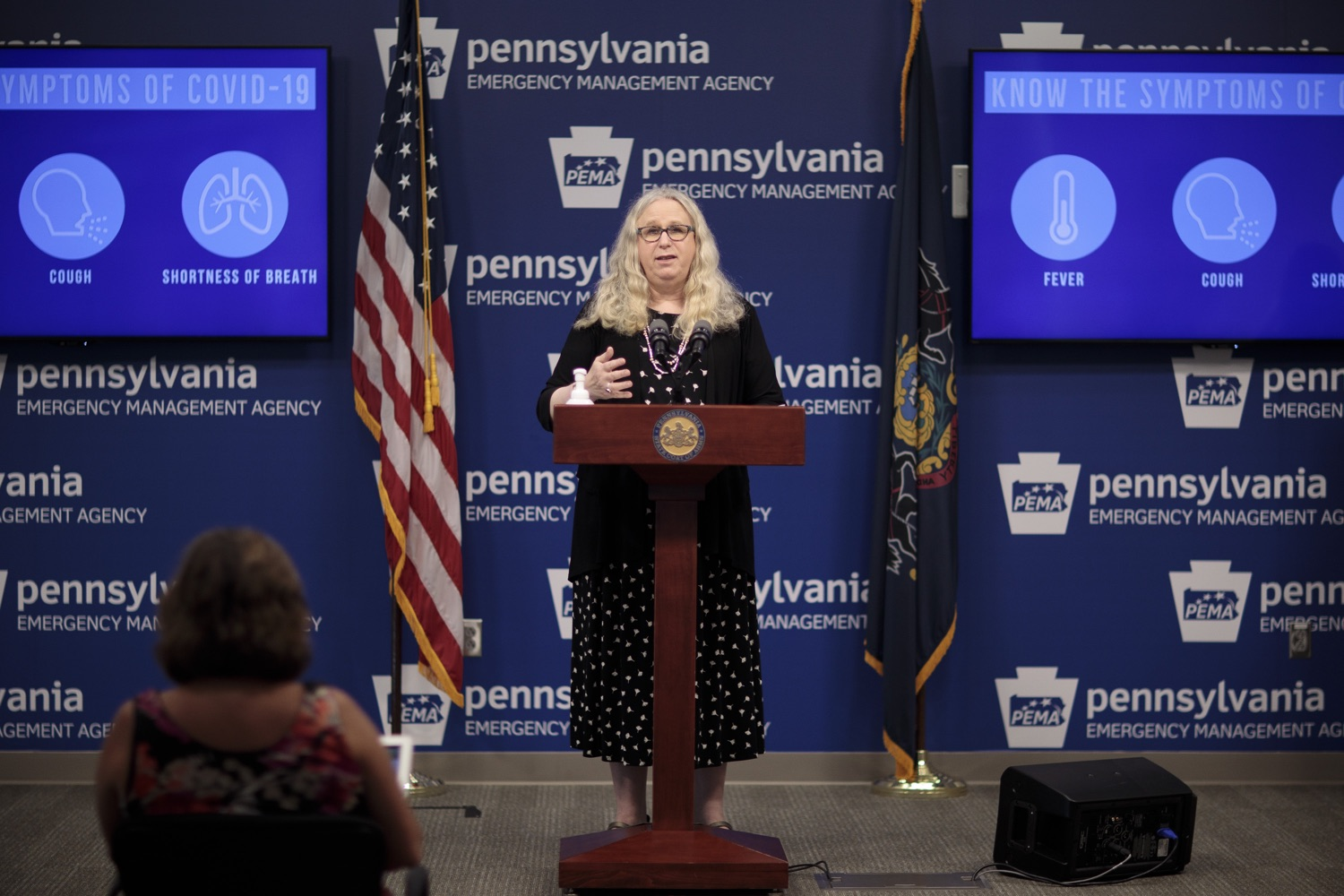 "<a href=""https://filesource.wostreaming.net/commonwealthofpa/photo/18258_doh_covidUpdate_dz_014.jpg"" target=""_blank"">⇣ Download Photo<br></a>Pennsylvania Secretary of Health Dr. Rachel Levine speaking to the press.  The Pennsylvania Department of Health today confirmed as of 12:00 a.m., September 14, that there were 638 additional positive cases of COVID-19 on September 13 and 620 additional positive cases of COVID-19 on September 14, bringing the statewide total to 145,063. All 67 counties in Pennsylvania have cases of COVID-19.  SEPTEMBER 14, 2020 - HARRISBURG, PA"