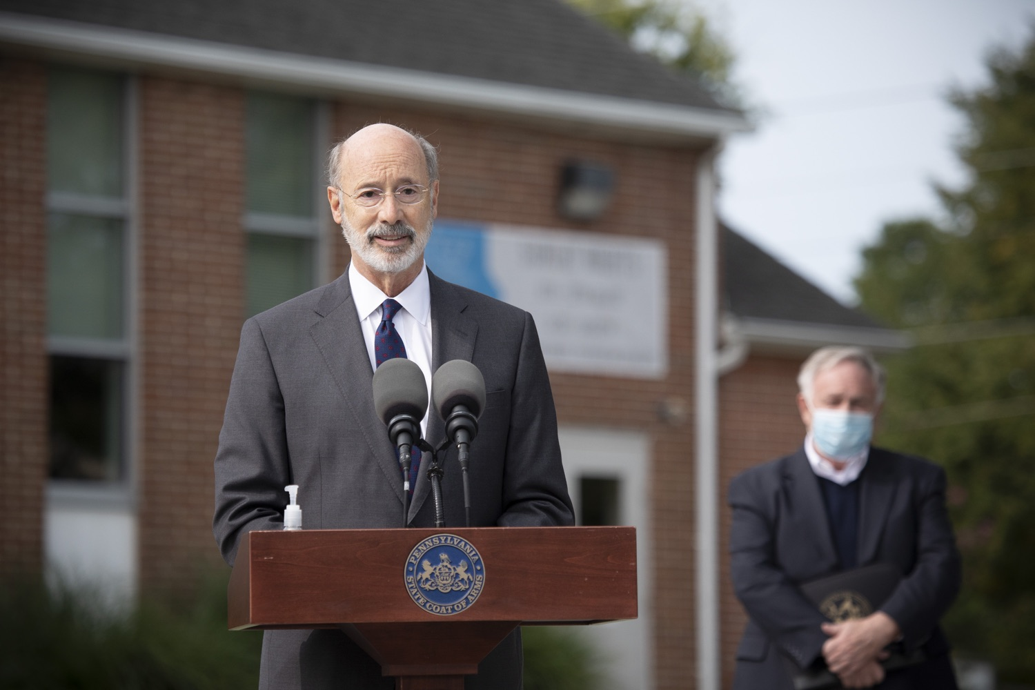 "<a href=""https://filesource.wostreaming.net/commonwealthofpa/photo/18259_gov_electionReform_dz_001.jpg"" target=""_blank"">⇣ Download Photo<br></a>Pennsylvania Governor Tom Wolf speaking to the press.  With only seven weeks left before the Nov. 3 election, Governor Tom Wolf is urging immediate legislative action to ensure voters receive their mail-in ballots early and give counties more time to process and count ballots before election day. The governor also reassured Pennsylvanians that in-person voting is safe, and all eligible votes will be counted. SEPTEMBER 14, 2020 - YORK, PA."