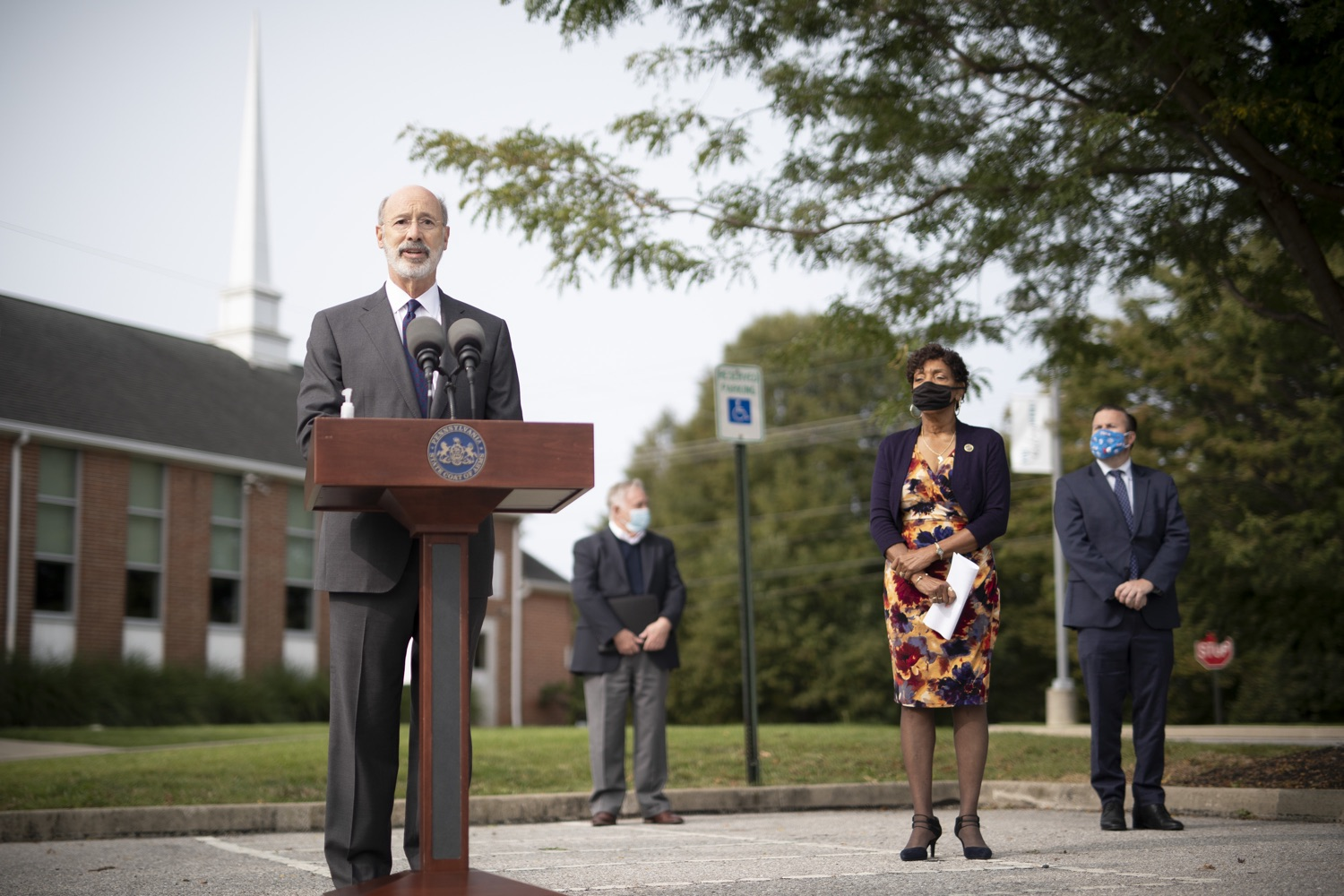 "<a href=""https://filesource.wostreaming.net/commonwealthofpa/photo/18259_gov_electionReform_dz_002.jpg"" target=""_blank"">⇣ Download Photo<br></a>Pennsylvania Governor Tom Wolf speaking to the press.  With only seven weeks left before the Nov. 3 election, Governor Tom Wolf is urging immediate legislative action to ensure voters receive their mail-in ballots early and give counties more time to process and count ballots before election day. The governor also reassured Pennsylvanians that in-person voting is safe, and all eligible votes will be counted. SEPTEMBER 14, 2020 - YORK, PA."