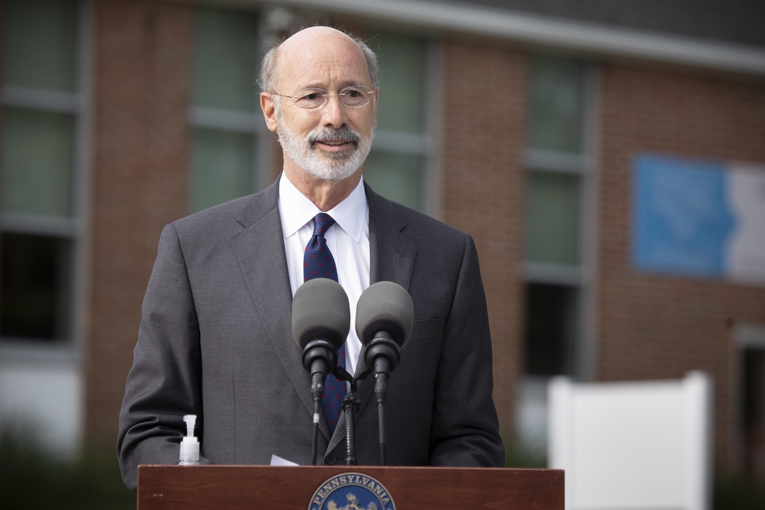 "<a href=""https://filesource.wostreaming.net/commonwealthofpa/photo/18259_gov_electionReform_dz_004.jpg"" target=""_blank"">⇣ Download Photo<br></a>Pennsylvania Governor Tom Wolf speaking to the press.  With only seven weeks left before the Nov. 3 election, Governor Tom Wolf is urging immediate legislative action to ensure voters receive their mail-in ballots early and give counties more time to process and count ballots before election day. The governor also reassured Pennsylvanians that in-person voting is safe, and all eligible votes will be counted. SEPTEMBER 14, 2020 - YORK, PA."