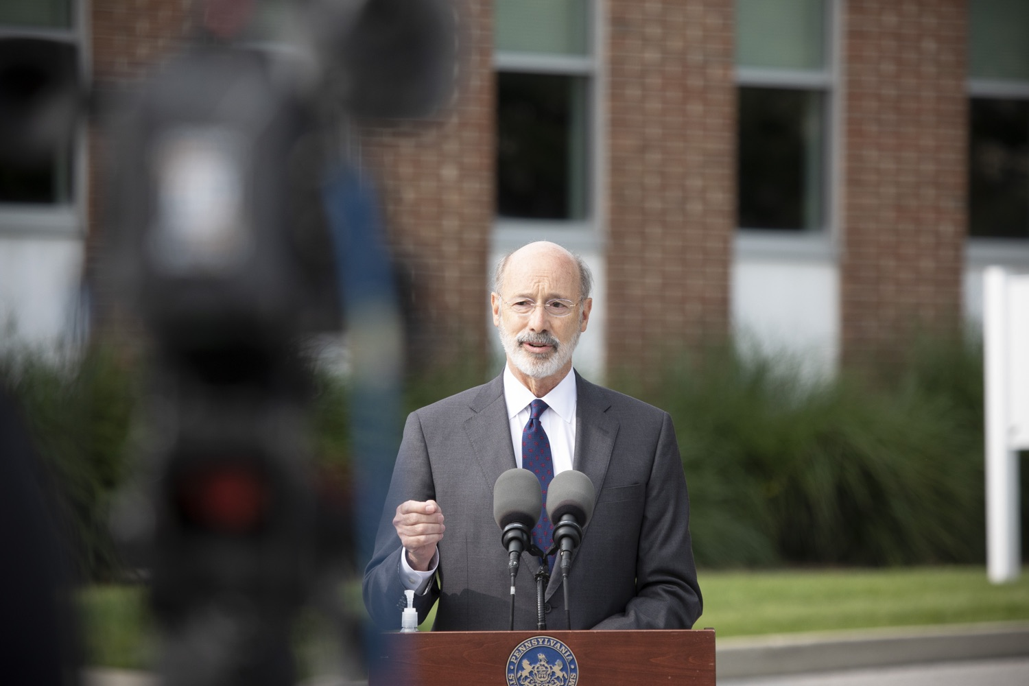 "<a href=""https://filesource.wostreaming.net/commonwealthofpa/photo/18259_gov_electionReform_dz_008.jpg"" target=""_blank"">⇣ Download Photo<br></a>Pennsylvania Governor Tom Wolf speaking to the press.  With only seven weeks left before the Nov. 3 election, Governor Tom Wolf is urging immediate legislative action to ensure voters receive their mail-in ballots early and give counties more time to process and count ballots before election day. The governor also reassured Pennsylvanians that in-person voting is safe, and all eligible votes will be counted. SEPTEMBER 14, 2020 - YORK, PA."