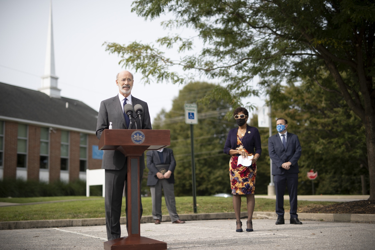 "<a href=""https://filesource.wostreaming.net/commonwealthofpa/photo/18259_gov_electionReform_dz_011.jpg"" target=""_blank"">⇣ Download Photo<br></a>Pennsylvania Governor Tom Wolf speaking to the press.  With only seven weeks left before the Nov. 3 election, Governor Tom Wolf is urging immediate legislative action to ensure voters receive their mail-in ballots early and give counties more time to process and count ballots before election day. The governor also reassured Pennsylvanians that in-person voting is safe, and all eligible votes will be counted. SEPTEMBER 14, 2020 - YORK, PA."