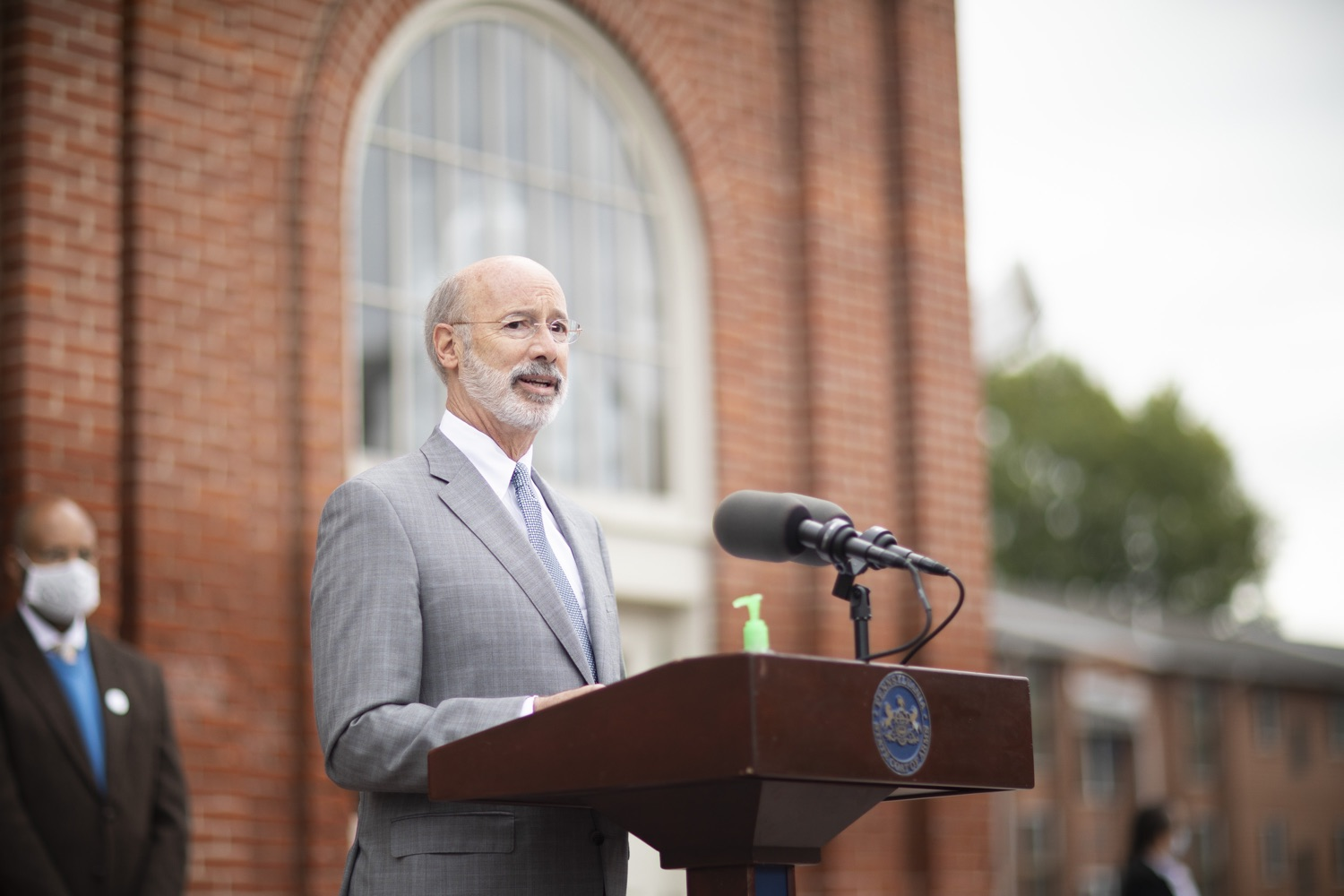 """<a href=""""https://filesource.wostreaming.net/commonwealthofpa/photo/18299_gov_covidgrant_dz_001.jpg"""" target=""""_blank"""">⇣Download Photo<br></a>Pennsylvania Governor Tom Wolf speaks to the press.   Governor Tom Wolf today announced that an additional $96 million in state grants have been approved for 5,373 Pennsylvania small businesses that were impacted by the business closure order due to the COVID-19 public health crisis. Harrisburg, PA  October 5, 2020"""