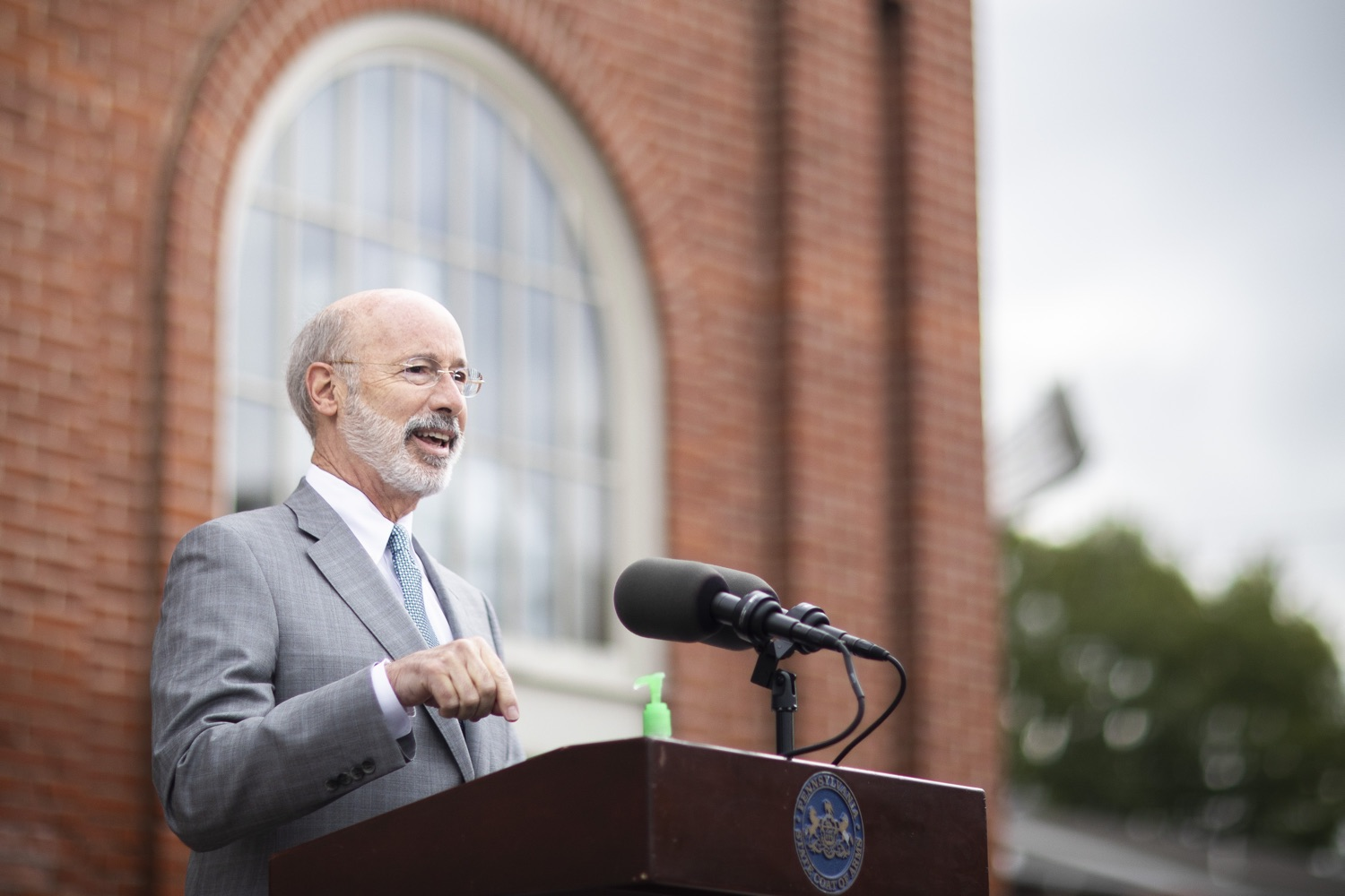 """<a href=""""https://filesource.wostreaming.net/commonwealthofpa/photo/18299_gov_covidgrant_dz_006.jpg"""" target=""""_blank"""">⇣Download Photo<br></a>Pennsylvania Governor Tom Wolf speaks to the press.   Governor Tom Wolf today announced that an additional $96 million in state grants have been approved for 5,373 Pennsylvania small businesses that were impacted by the business closure order due to the COVID-19 public health crisis. Harrisburg, PA  October 5, 2020"""
