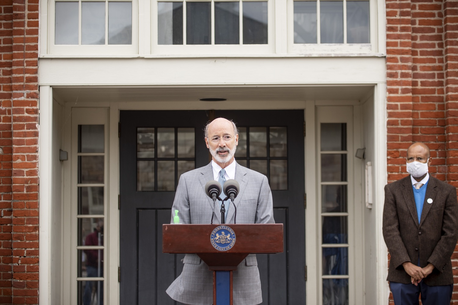 """<a href=""""https://filesource.wostreaming.net/commonwealthofpa/photo/18299_gov_covidgrant_dz_009.jpg"""" target=""""_blank"""">⇣Download Photo<br></a>Pennsylvania Governor Tom Wolf speaks to the press.   Governor Tom Wolf today announced that an additional $96 million in state grants have been approved for 5,373 Pennsylvania small businesses that were impacted by the business closure order due to the COVID-19 public health crisis. Harrisburg, PA  October 5, 2020"""