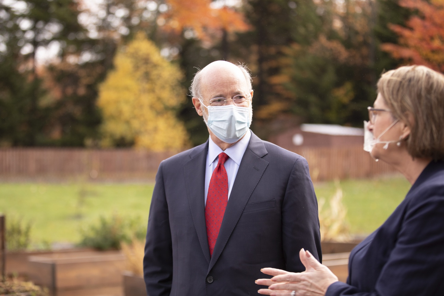 """<a href=""""https://filesource.wostreaming.net/commonwealthofpa/photo/18310_gov_adult_use_cannabis_dz_006.jpg"""" target=""""_blank"""">⇣Download Photo<br></a>Governor Tom Wolf touring The Mountain Center with Rep. Maureen Madden. Governor Tom Wolf visited The Mountain Center in Tobyhanna, Monroe County today to talk about the economic growth potential and restorative justice benefits of legalizing adult-use cannabis, something the state General Assembly has not yet done despite multiple requests from the governor and Lieutenant Governor John Fetterman to take up legislation this fall.  Tobyhanna, PA  October 13, 2020"""