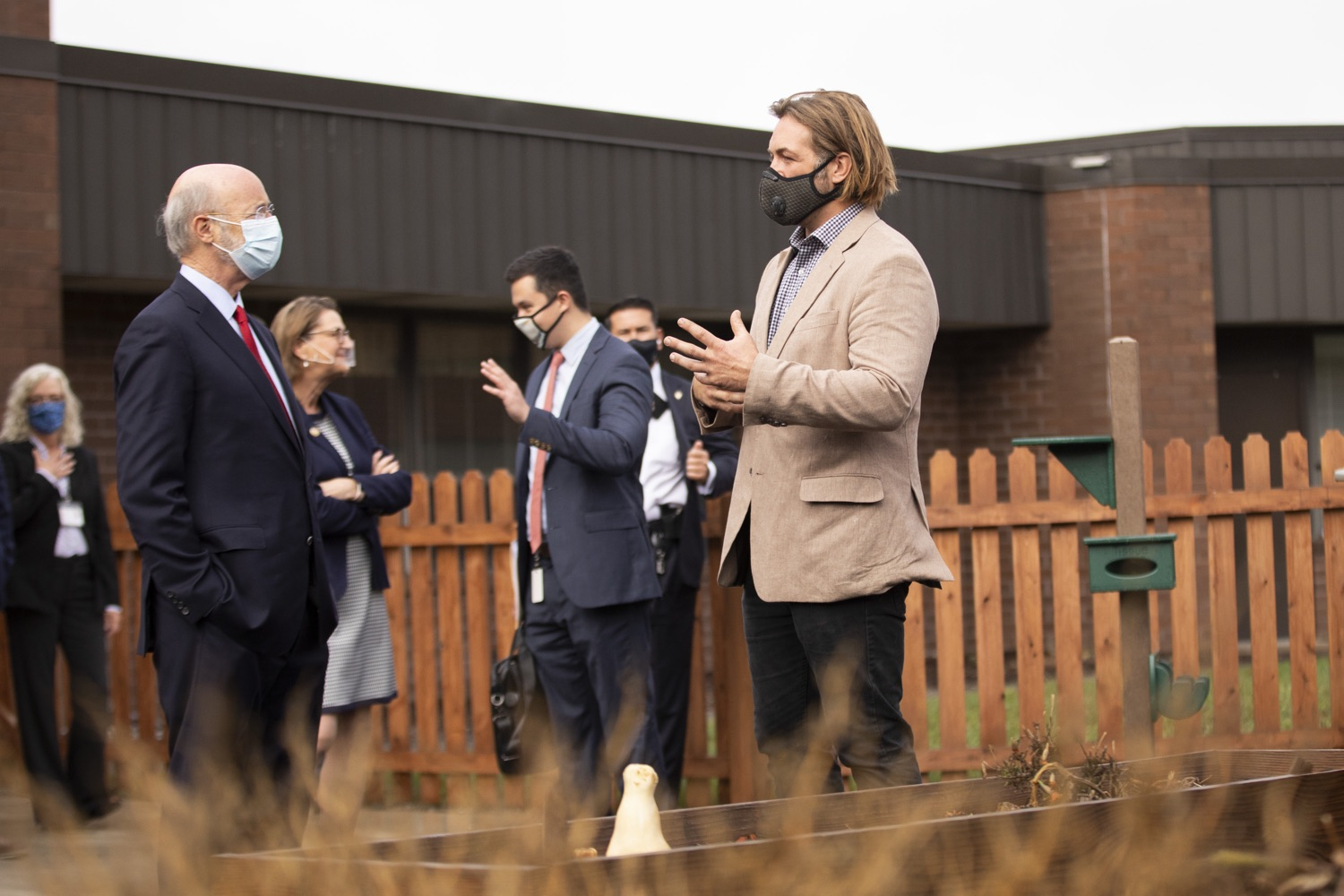 """<a href=""""https://filesource.wostreaming.net/commonwealthofpa/photo/18310_gov_adult_use_cannabis_dz_010.jpg"""" target=""""_blank"""">⇣Download Photo<br></a>Governor Tom Wolf touring The Mountain Center with hemp farmer Eric Titus White. Governor Tom Wolf visited The Mountain Center in Tobyhanna, Monroe County today to talk about the economic growth potential and restorative justice benefits of legalizing adult-use cannabis, something the state General Assembly has not yet done despite multiple requests from the governor and Lieutenant Governor John Fetterman to take up legislation this fall.  Tobyhanna, PA  October 13, 2020"""