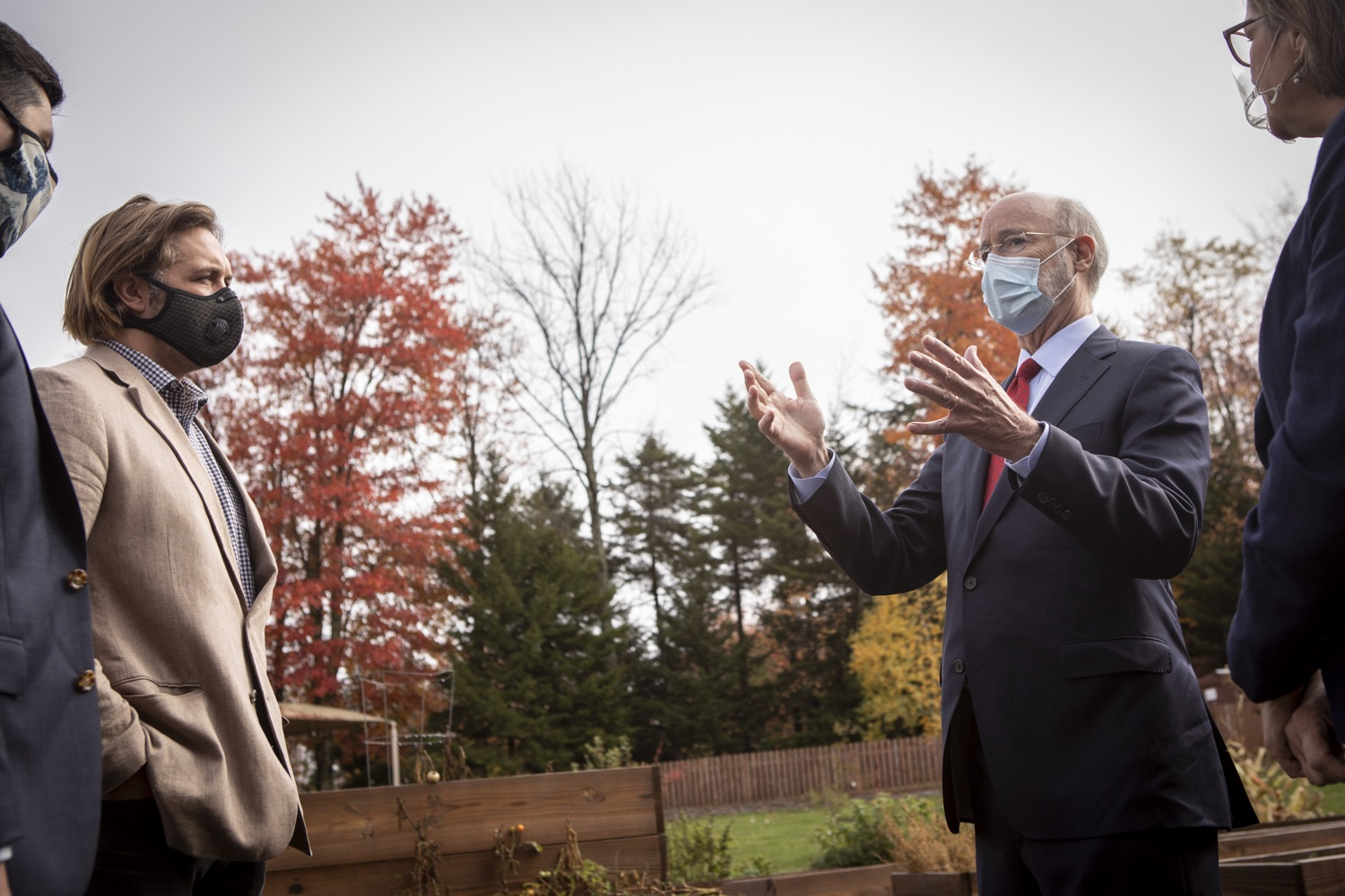 """<a href=""""https://filesource.wostreaming.net/commonwealthofpa/photo/18310_gov_adult_use_cannabis_dz_012.jpg"""" target=""""_blank"""">⇣Download Photo<br></a>Governor Tom Wolf touring The Mountain Center with Rep. Maureen Madden and Eric Titus White. Governor Tom Wolf visited The Mountain Center in Tobyhanna, Monroe County today to talk about the economic growth potential and restorative justice benefits of legalizing adult-use cannabis, something the state General Assembly has not yet done despite multiple requests from the governor and Lieutenant Governor John Fetterman to take up legislation this fall.  Tobyhanna, PA  October 13, 2020"""