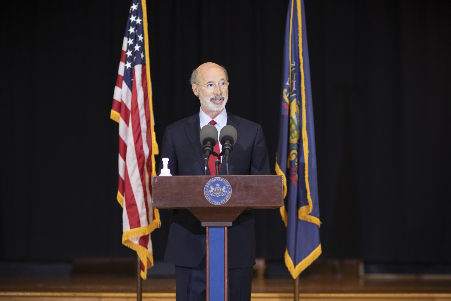 "<a href=""https://filesource.wostreaming.net/commonwealthofpa/photo/18310_gov_adult_use_cannabis_dz_018.jpg"" target=""_blank"">⇣ Download Photo<br></a>Governor Tom Wolf speaks to the press.Governor Tom Wolf visited The Mountain Center in Tobyhanna, Monroe County today to talk about the economic growth potential and restorative justice benefits of legalizing adult-use cannabis, something the state General Assembly has not yet done despite multiple requests from the governor and Lieutenant Governor John Fetterman to take up legislation this fall.  Tobyhanna, PA  October 13, 2020"
