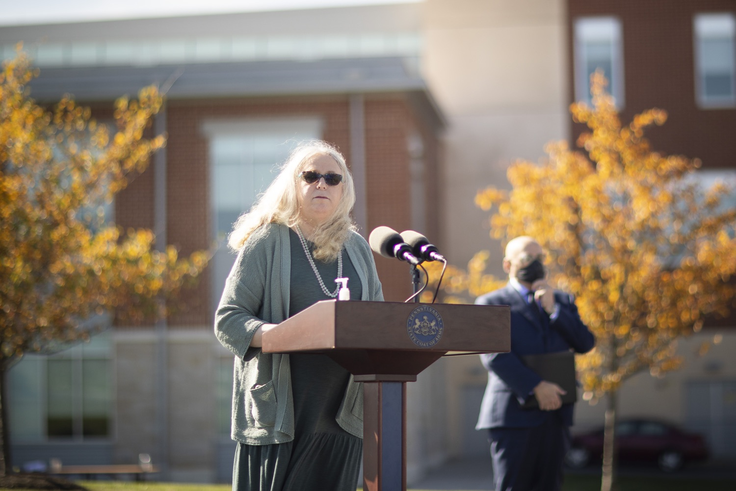 """<a href=""""https://filesource.wostreaming.net/commonwealthofpa/photo/18316_doh_covid19_dz_001.jpg"""" target=""""_blank"""">⇣Download Photo<br></a>Dr. Rachel Levine, Pennsylvania Secretary of Health answers questions from the press.  The Wolf Administration today began distributing the first allotment of 250,000 COVID-19 antigen test kits provided by the federal government to Clinical Laboratory Improvement Amendments (CLIA)-certified institutions across Pennsylvania. Distribution is starting with Bradford, Centre, Lebanon, Montour, Northumberland, Schuylkill and Snyder counties because of the recent high disease incidence rate in these areas. Harrisburg, PA  October 14, 2020"""