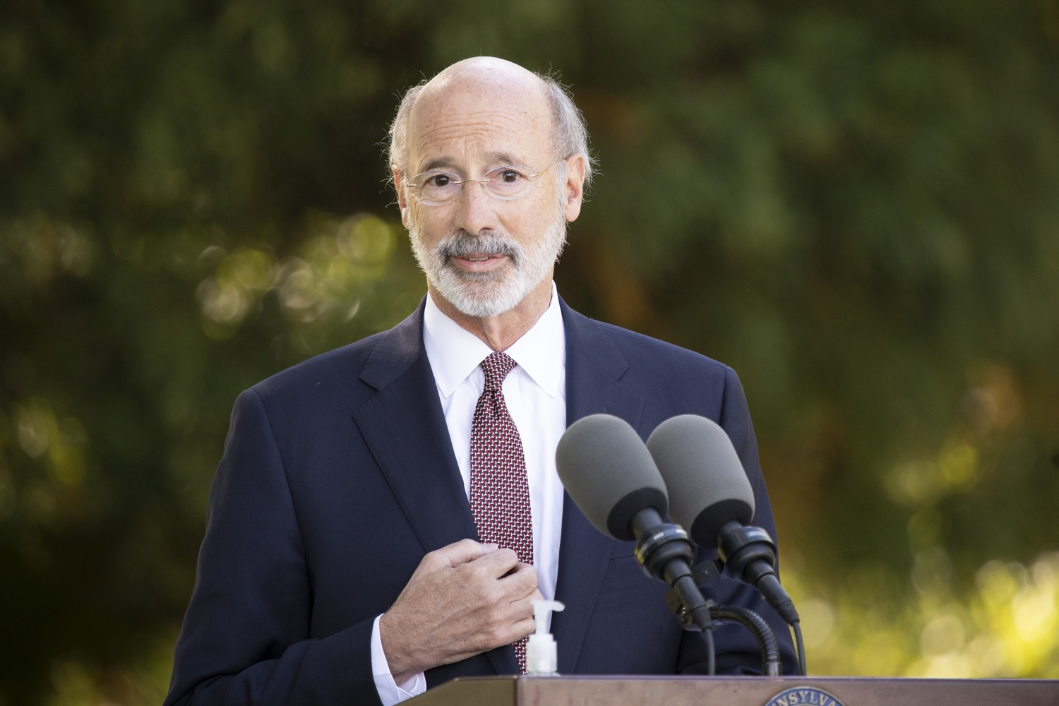 "<a href=""https://filesource.wostreaming.net/commonwealthofpa/photo/18321_gov_aca_dz_009.jpg"" target=""_blank"">⇣ Download Photo<br></a>Pennsylvania Governor Tom Wolf speaking to the press.  As the number of positive COVID-19 cases rise in Pennsylvania and as we enter flu season, protecting the Affordable Care Act (ACA) and ensuring that all Pennsylvanians have access to health coverage are more important than ever, Governor Tom Wolf said today in Chester County. The governor was joined by local elected officials and representatives from local health care organizations. Landenberg, PA  October 15, 2020"